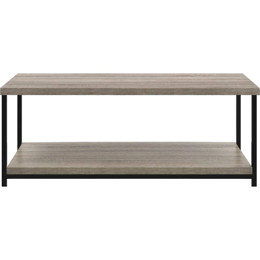 Altra Furniture Elmwood Sonoma Oak Storage Coffee Table pertaining to Oak Coffee Tables With Shelf (Image 1 of 30)