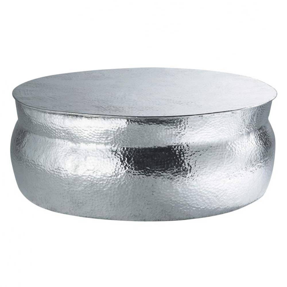 Aluminium Round Coffee Table D 91Cm Nomade | Maisons Du Monde within Aluminium Coffee Tables (Image 5 of 30)