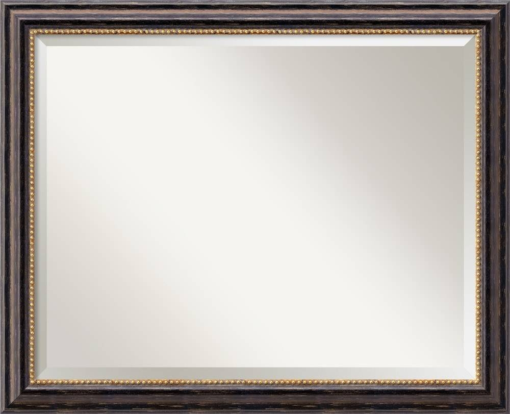 Amanti Art Tuscan Rustic Black Wall Mirror - Large 32 X 26-Inch inside Large Landscape Mirrors (Image 3 of 25)