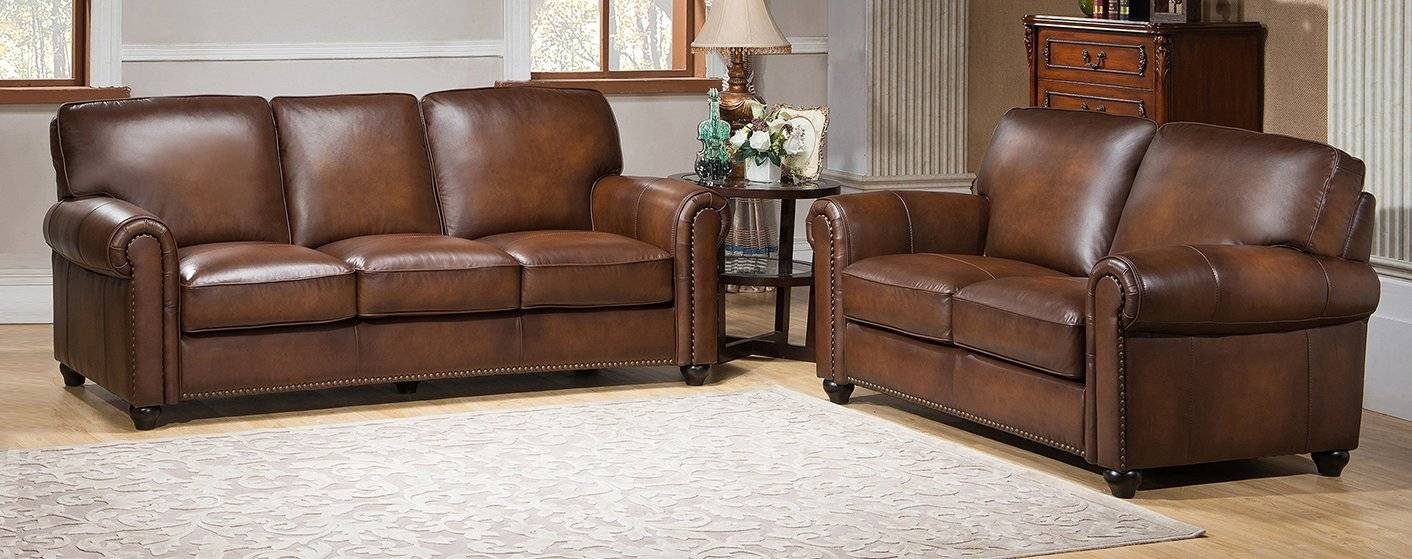 Amax Aspen Leather Sofa And Loveseat Set & Reviews | Wayfair regarding Aspen Leather Sofas (Image 1 of 30)