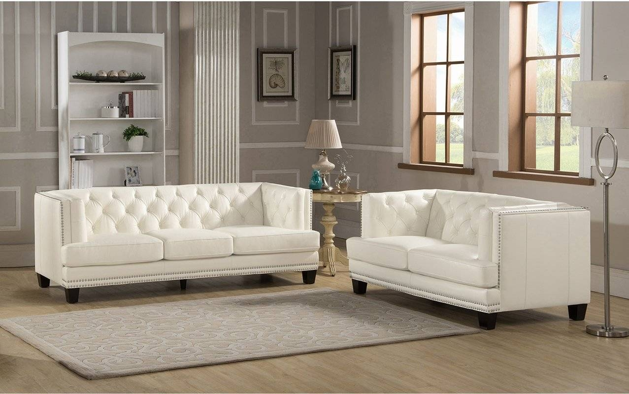 Amax Newport Leather Sofa And Loveseat Set & Reviews | Wayfair with regard to Newport Sofas (Image 4 of 30)