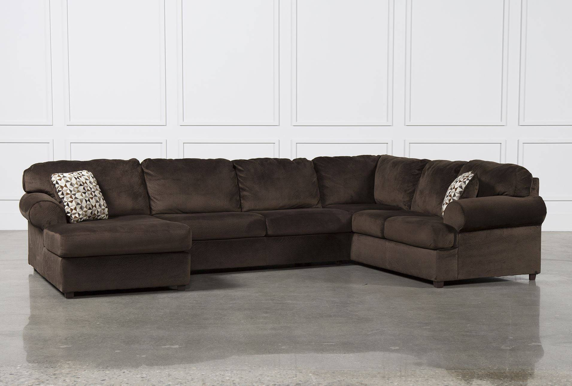 Amazing 3 Piece Leather Sectional Sofa With Chaise 97 About with Sectional Sofas Portland (Image 1 of 30)
