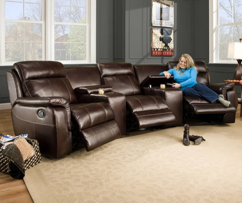 Amazing Curved Sectional Recliner Sofas 43 On Sectional Sofa Bed with Curved Sectional Sofa With Recliner (Image 1 of 30)