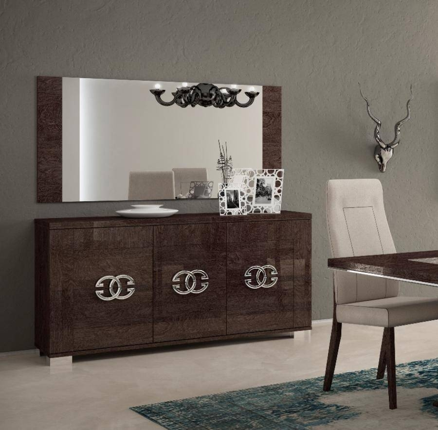 Amazing Design Modern Sideboard Ideas Featuring Dark Brown Color Pertaining To Sideboards With Lamps (View 5 of 30)
