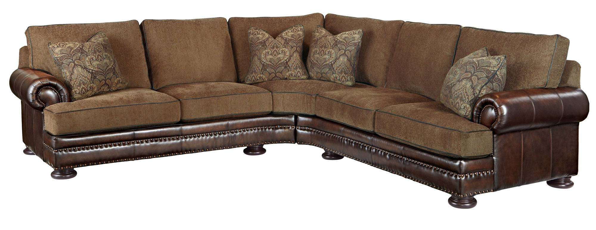 Amazing Leather And Cloth Sectional Sofas 45 About Remodel Abbyson inside Abbyson Living Charlotte Dark Brown Sectional Sofa And Ottoman (Image 2 of 30)