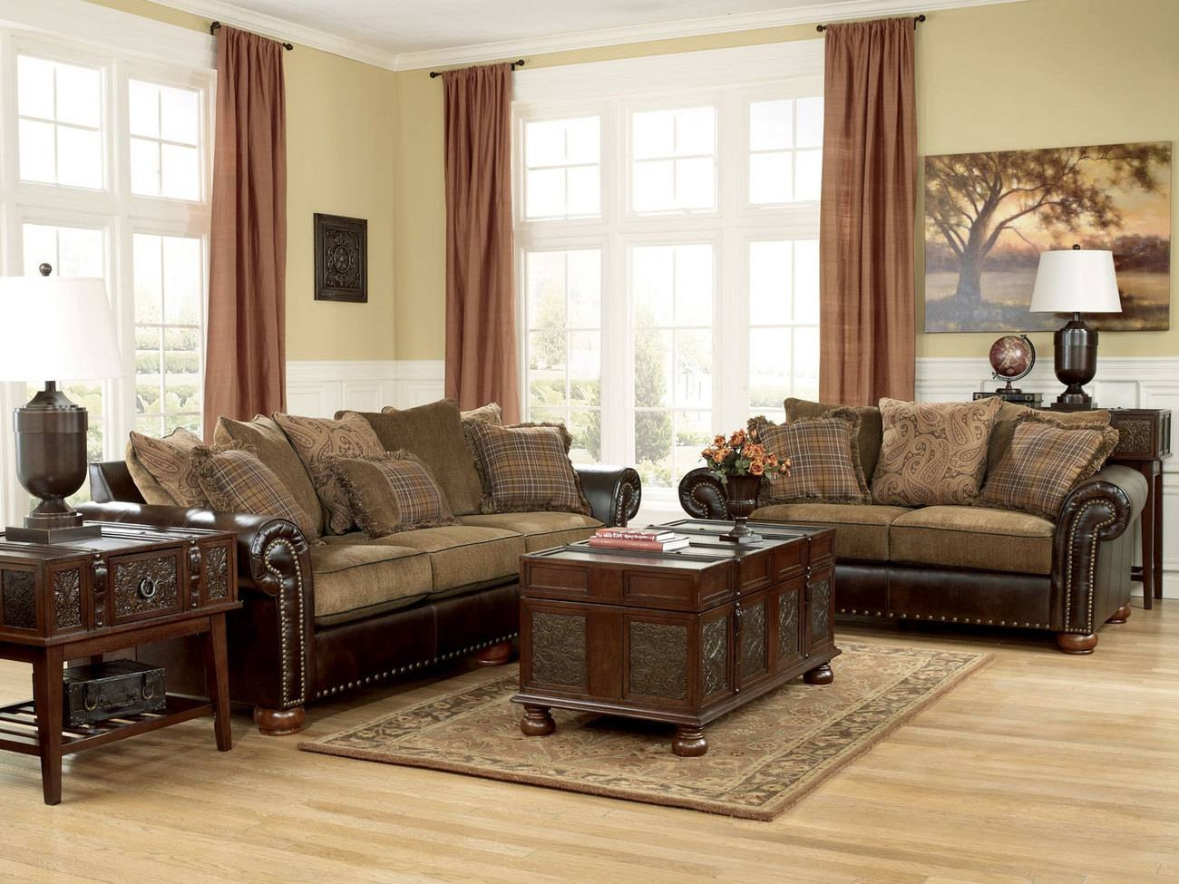 Amazing Leather And Cloth Sectional Sofas 45 About Remodel Abbyson pertaining to Abbyson Living Charlotte Dark Brown Sectional Sofa And Ottoman (Image 4 of 30)