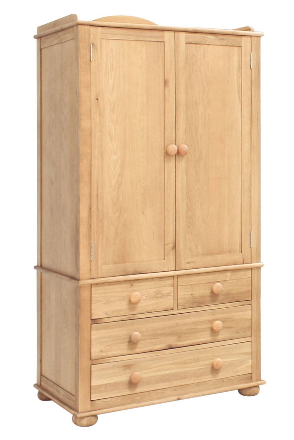 Amelie Oak Childrens Double Wardrobe | Hallowood throughout Childrens Double Rail Wardrobes (Image 3 of 30)