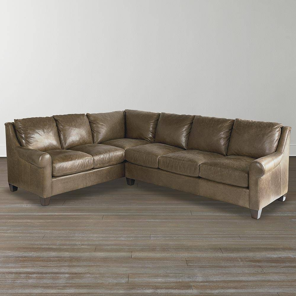 American Casual - Ellery Lg L-Shaped Sectional | Bassett Furniture throughout Leather L Shaped Sectional Sofas (Image 1 of 30)