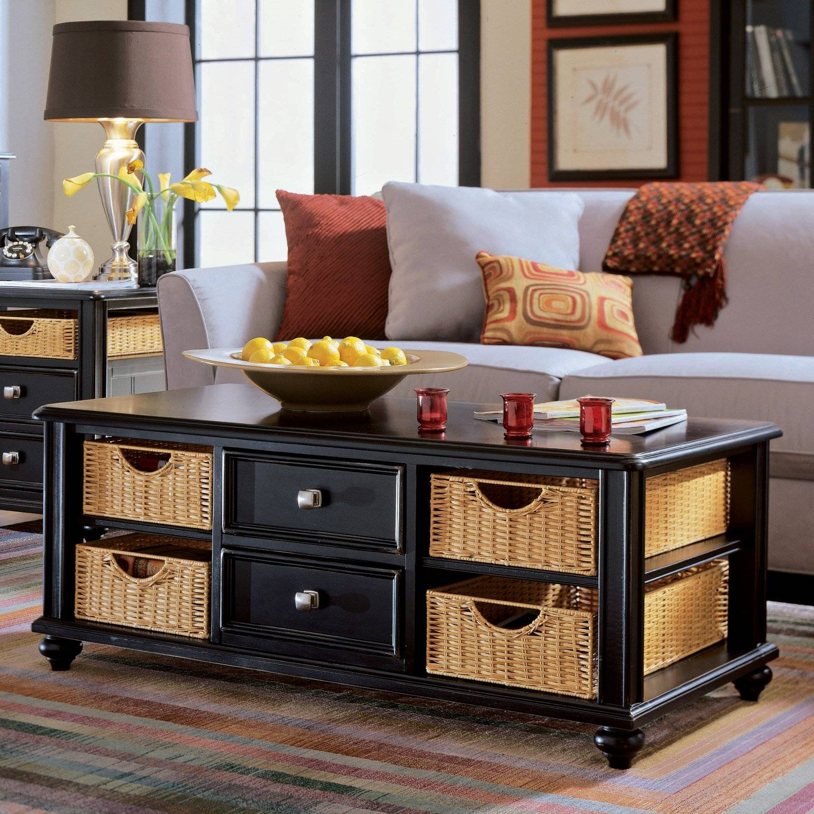 American Drew Camden Light Rectangular Coffee Table | Coffee for White Coffee Tables With Baskets (Image 1 of 30)