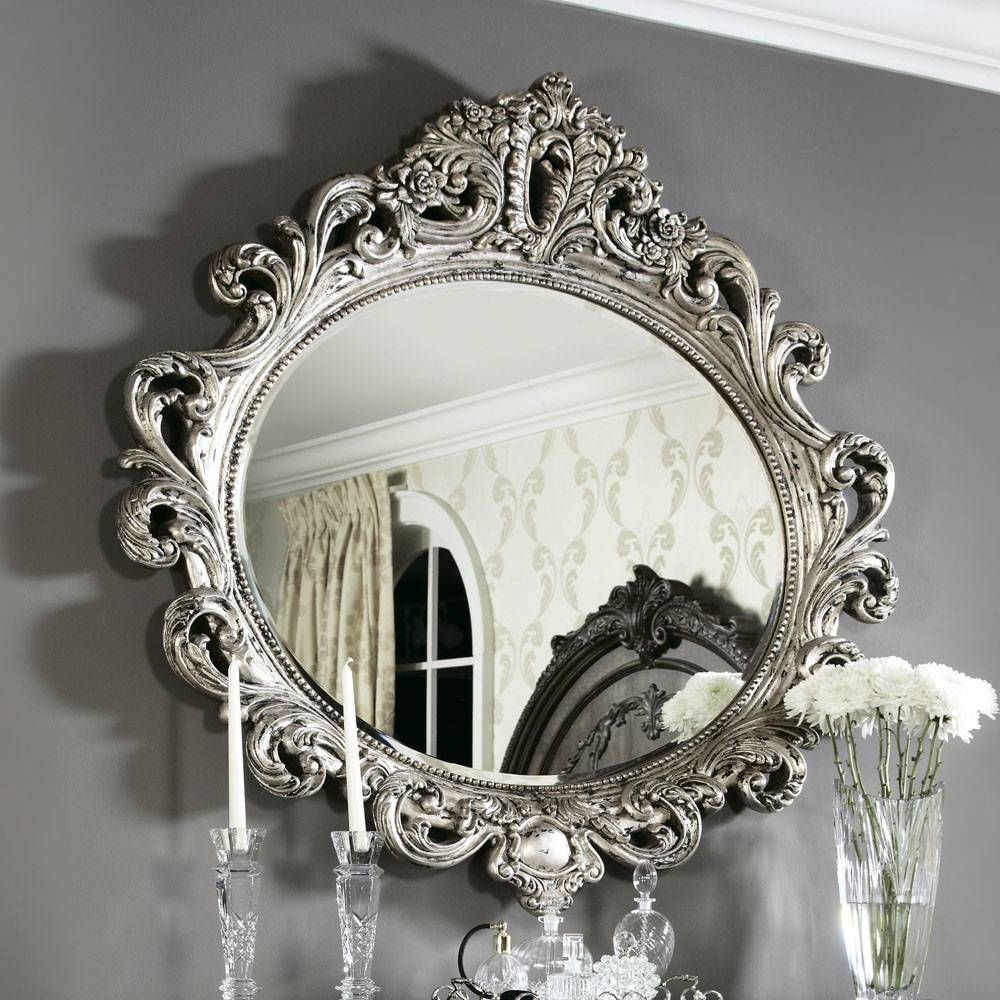 American Drew Jessica Mcclintock Silver Veil Oval Mirror – Beyond Pertaining To Silver Oval Mirrors (View 3 of 25)