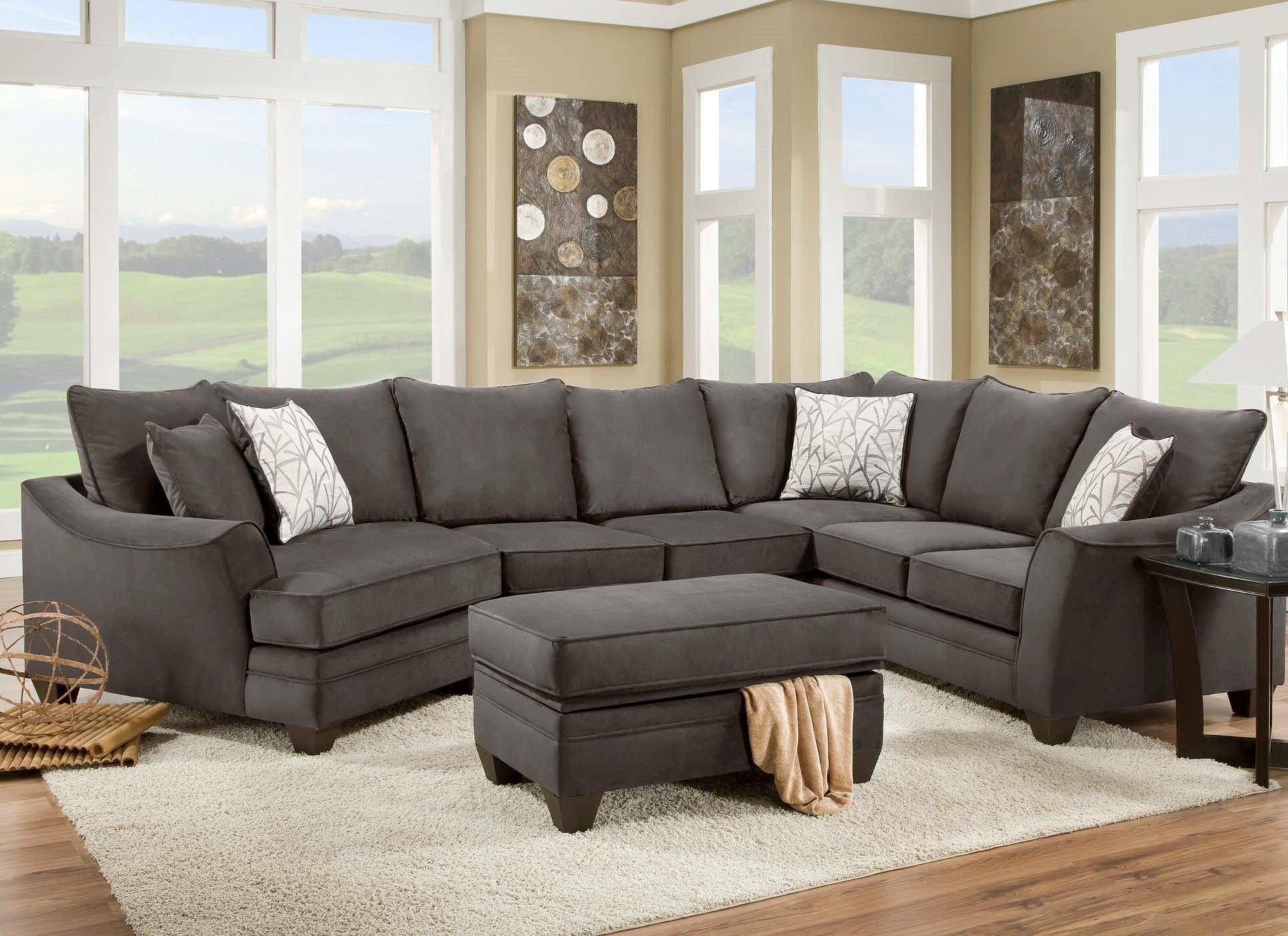 American Furniture 3810 Sectional Sofa That Seats 5 With Left Side for Sectional Sofa With Cuddler Chaise (Image 2 of 25)