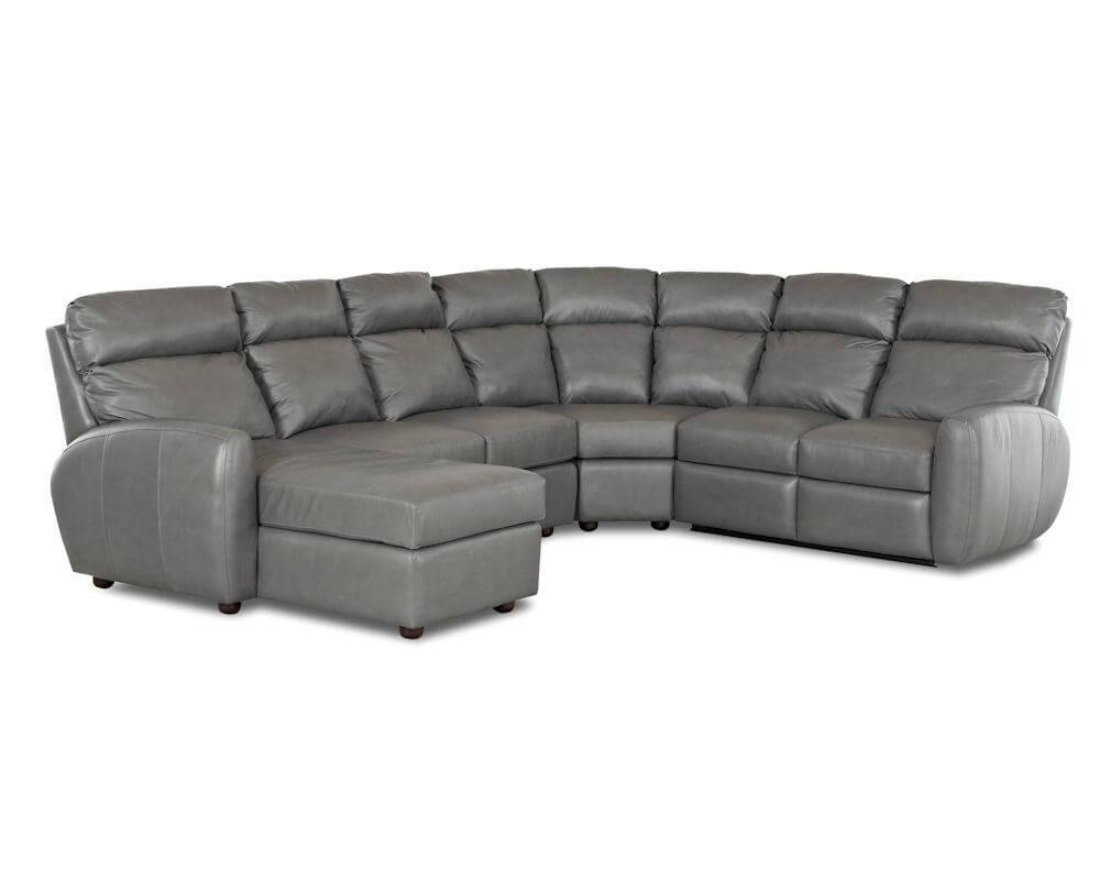 American Made Best Reclining Leather Sectional Ventana Clp114 inside American Made Sectional Sofas (Image 6 of 30)