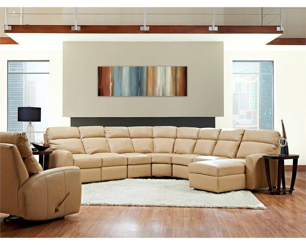 American Made Best Reclining Leather Sectional Ventana Clp114 inside American Made Sectional Sofas (Image 5 of 30)