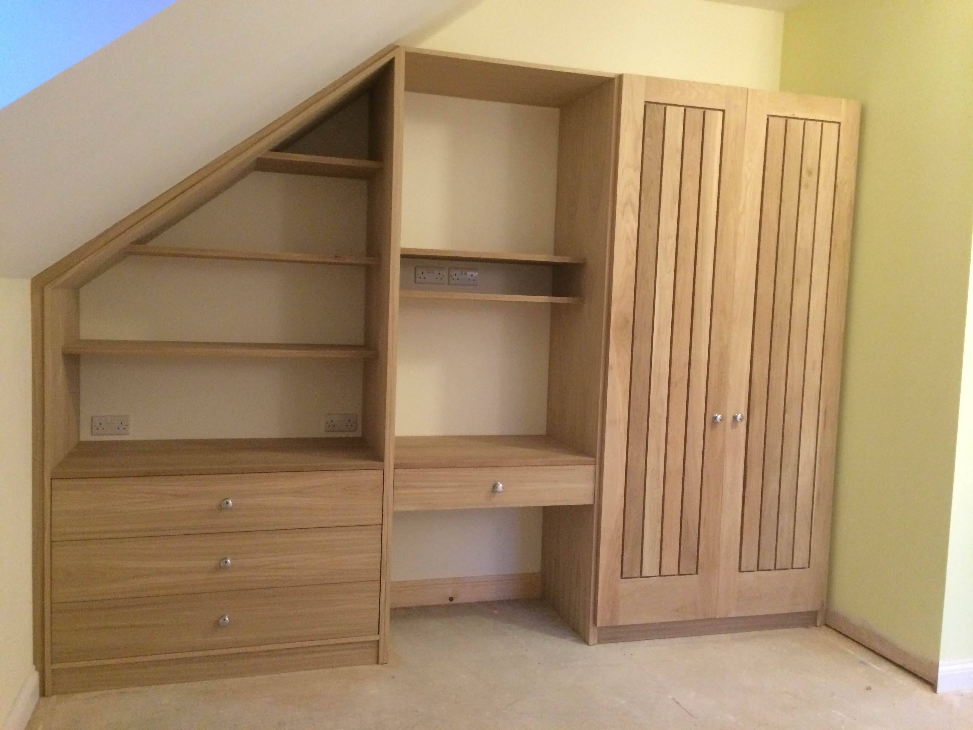American White Oak Wardrobe | Carpentrycraig Ross regarding Oak And White Wardrobes (Image 1 of 15)