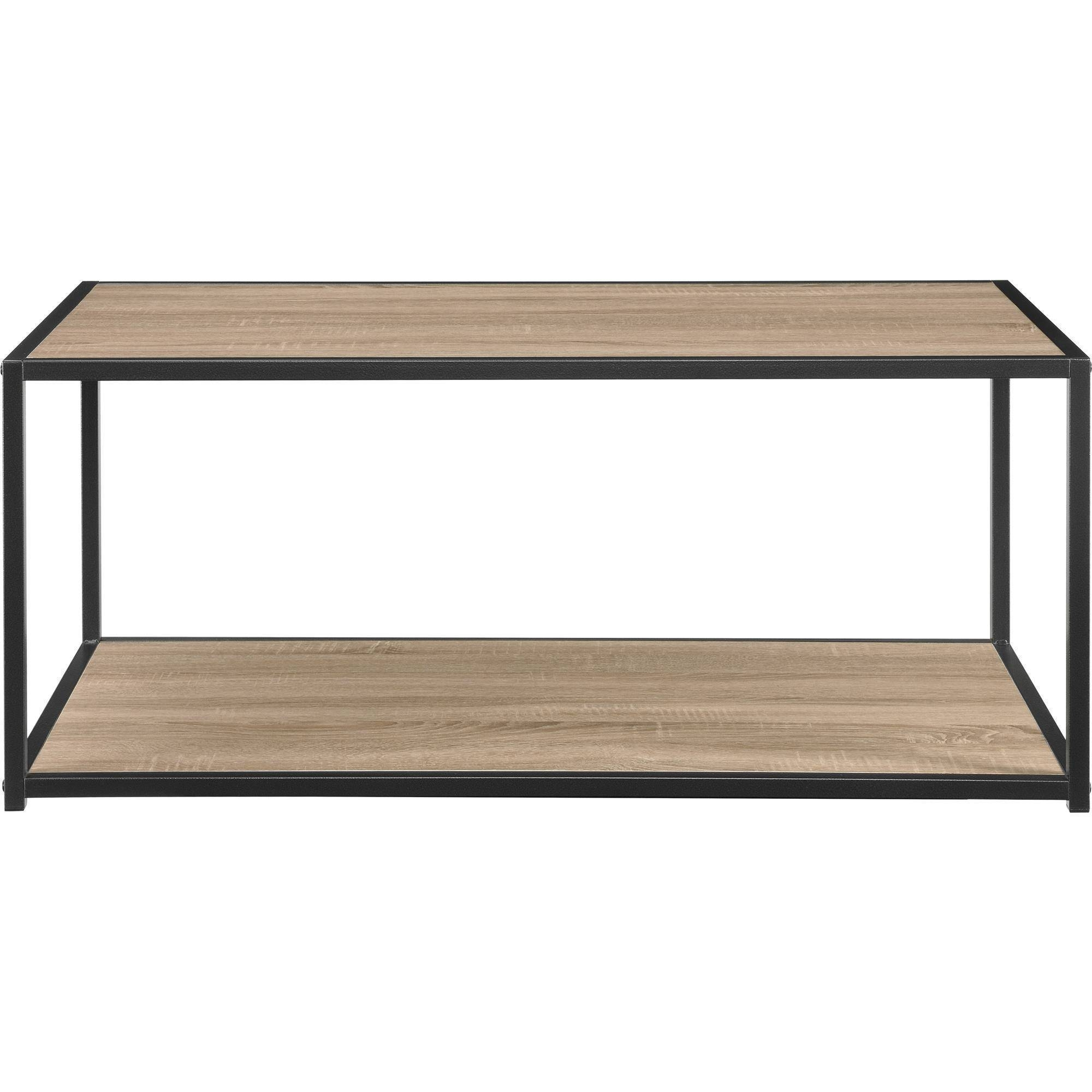 Ameriwood Home Canton Coffee Table With Metal Frame, Distressed throughout Metal Coffee Tables (Image 2 of 30)