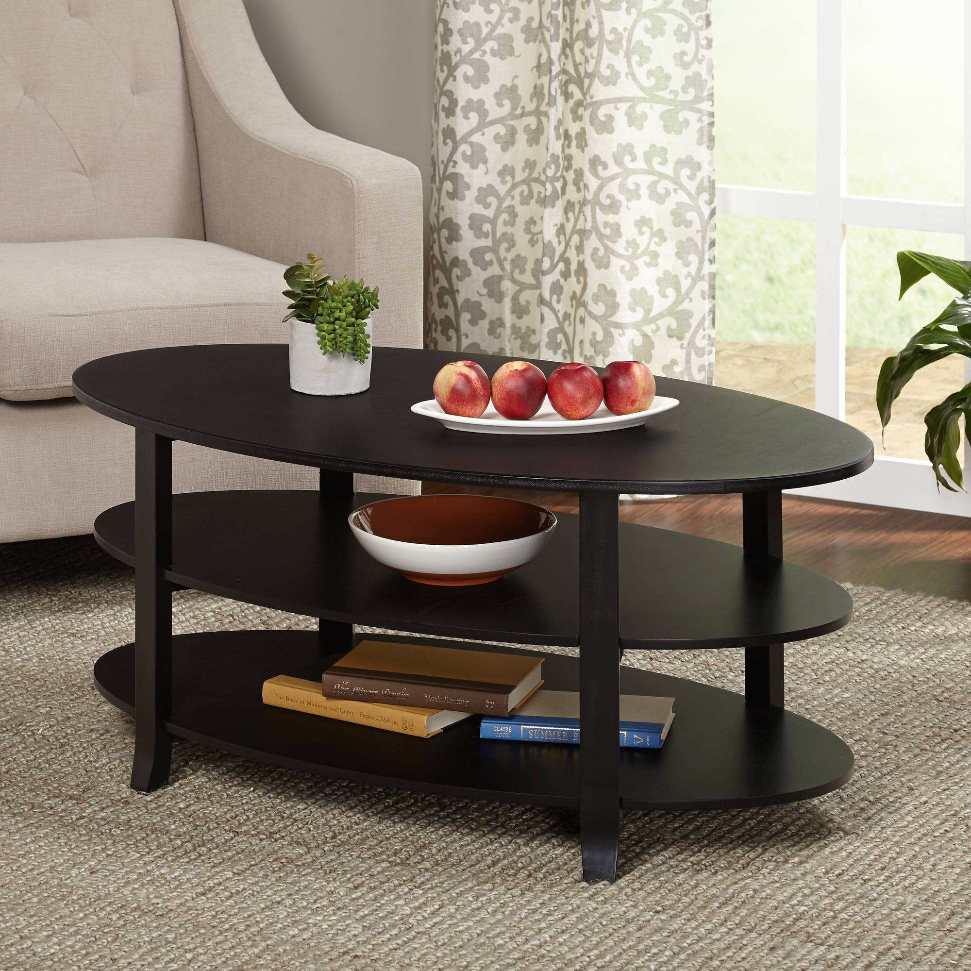 Ameriwood Home Carson Coffee Table, Espresso/silver – Walmart Pertaining To Small Coffee Tables With Storage (View 2 of 30)