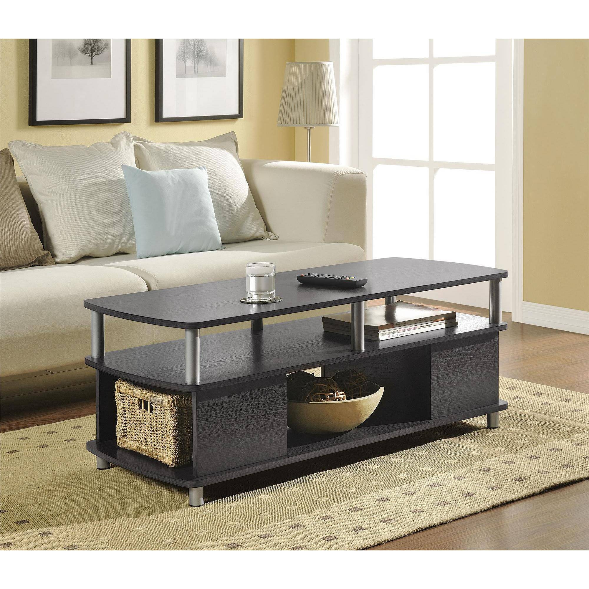 Ameriwood Home Carson Coffee Table, Espresso/silver - Walmart with Espresso Coffee Tables (Image 4 of 30)