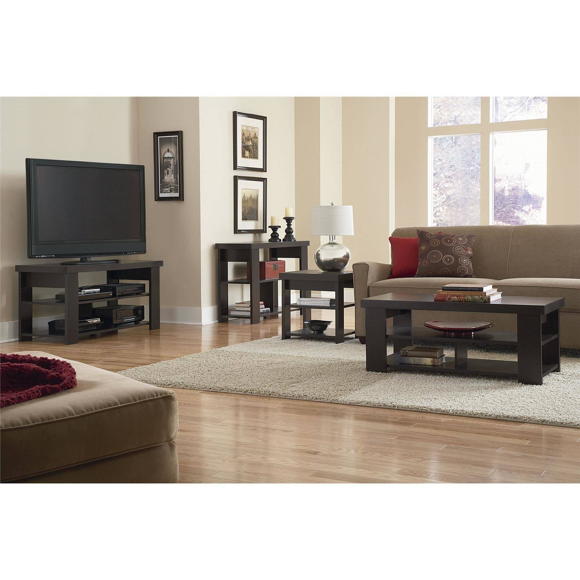 Ameriwood Home Jensen Coffee Table, Espresso - Walmart within Tv Stand Coffee Table Sets (Image 5 of 30)