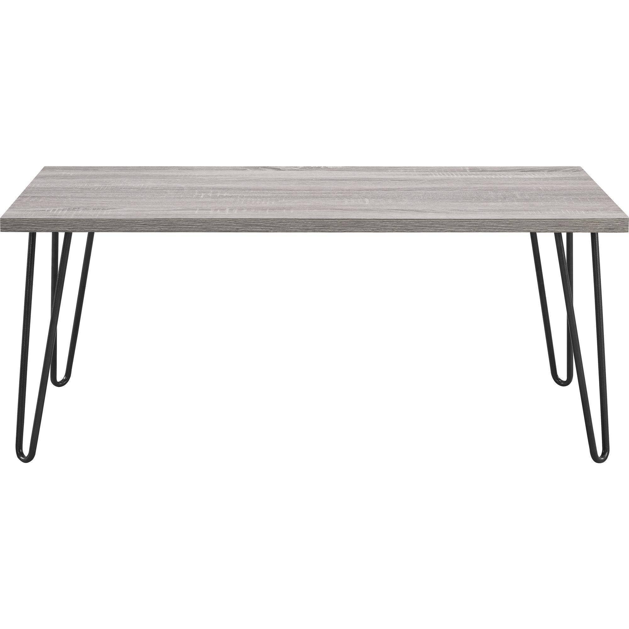 Ameriwood Home Owen Retro Coffee Table, Distressed Gray Oak regarding Retro White Coffee Tables (Image 2 of 30)