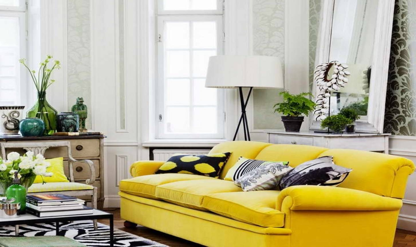 Amiable Gray And Yellow Accent Chairs Tags : Gray And Yellow regarding Yellow Sofa Chairs (Image 4 of 30)
