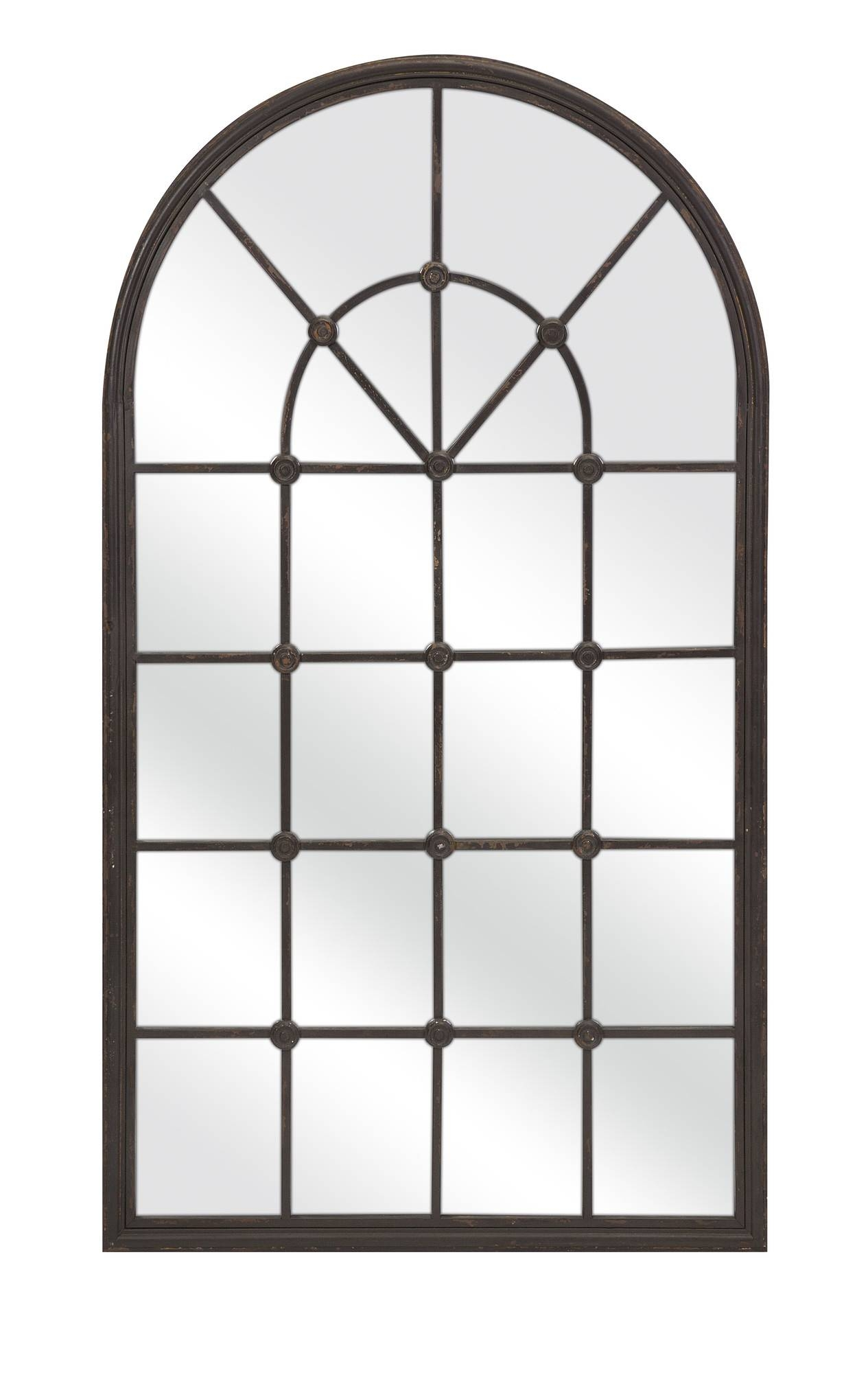 Amiel Large Arch Mirror 7 Unique Decoration And Large Arched pertaining to Arched Window Mirrors (Image 1 of 25)
