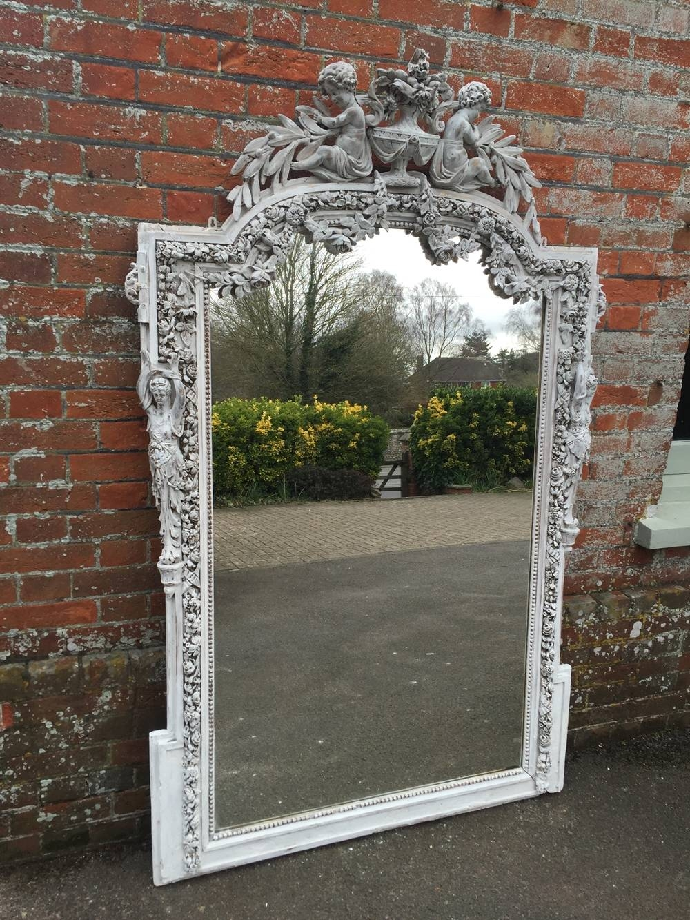 An Absolutely Stunning Large Shaped Top Highly Unusual Large for Unusual Large Mirrors (Image 7 of 25)