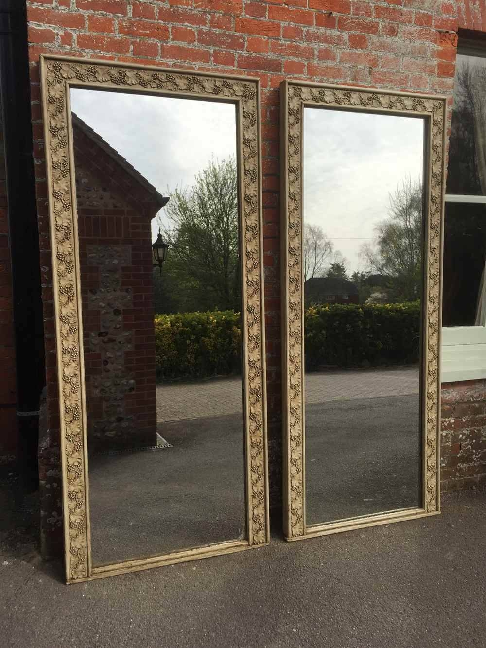 An Absolutely Stunning Pair Of Rare Large Antique 19Th Century Regarding Antique Large Mirrors (View 9 of 25)