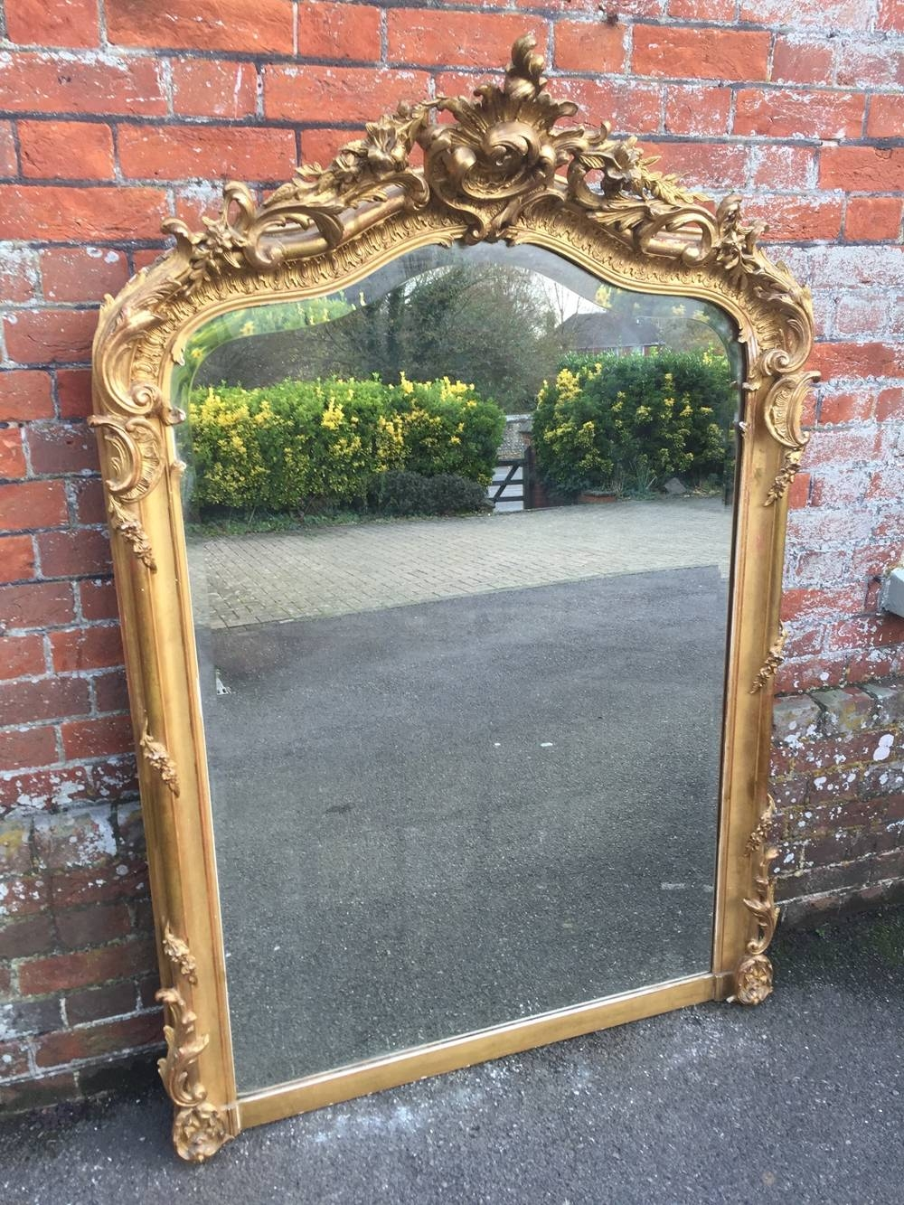 An Absolutely Superb Large Antique 19Th Century French Carved Wood with regard to French Floor Standing Mirrors (Image 12 of 25)