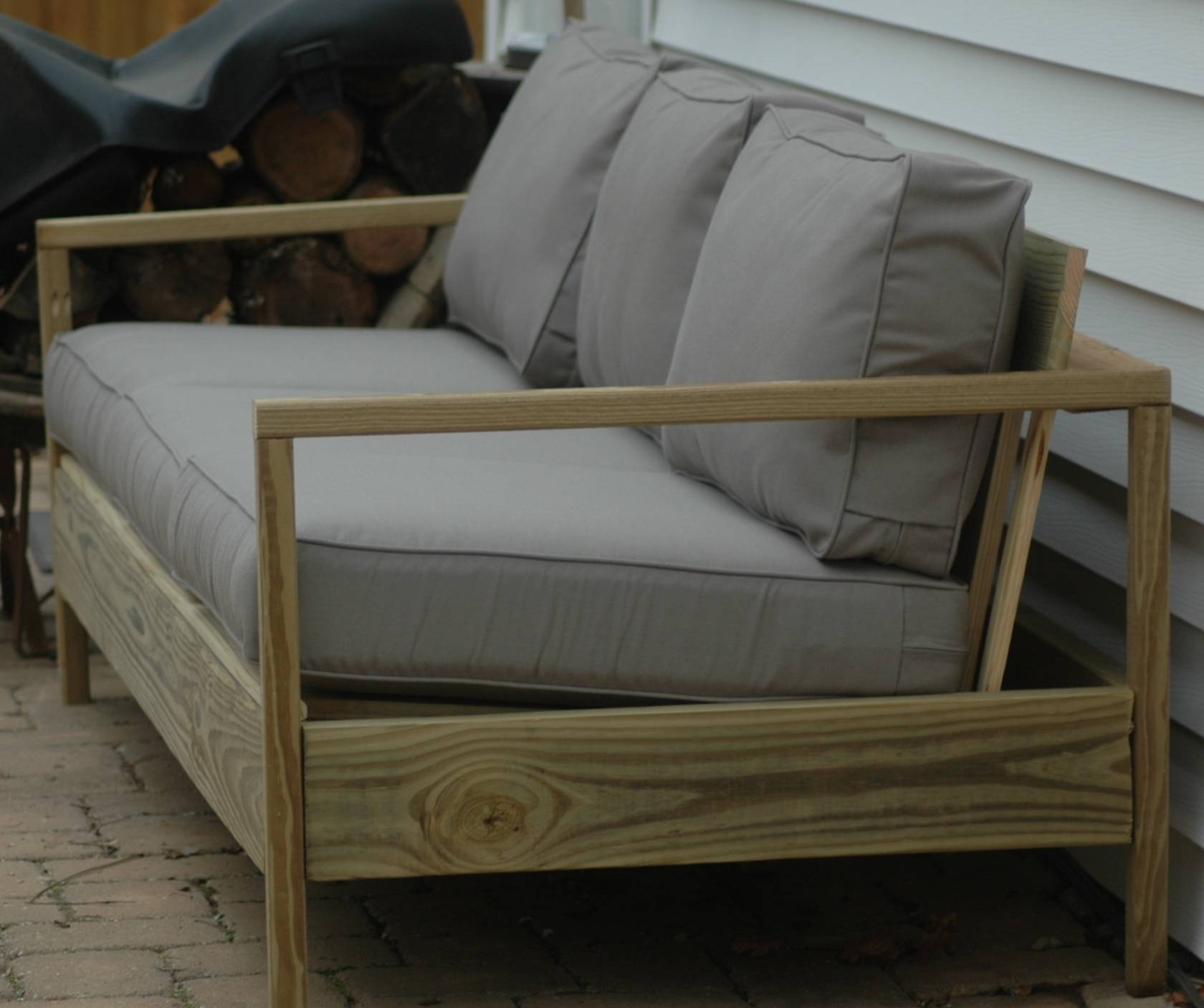 Ana White | 84' Patio Sofa - Diy Projects within Building a Sectional Sofa (Image 1 of 30)