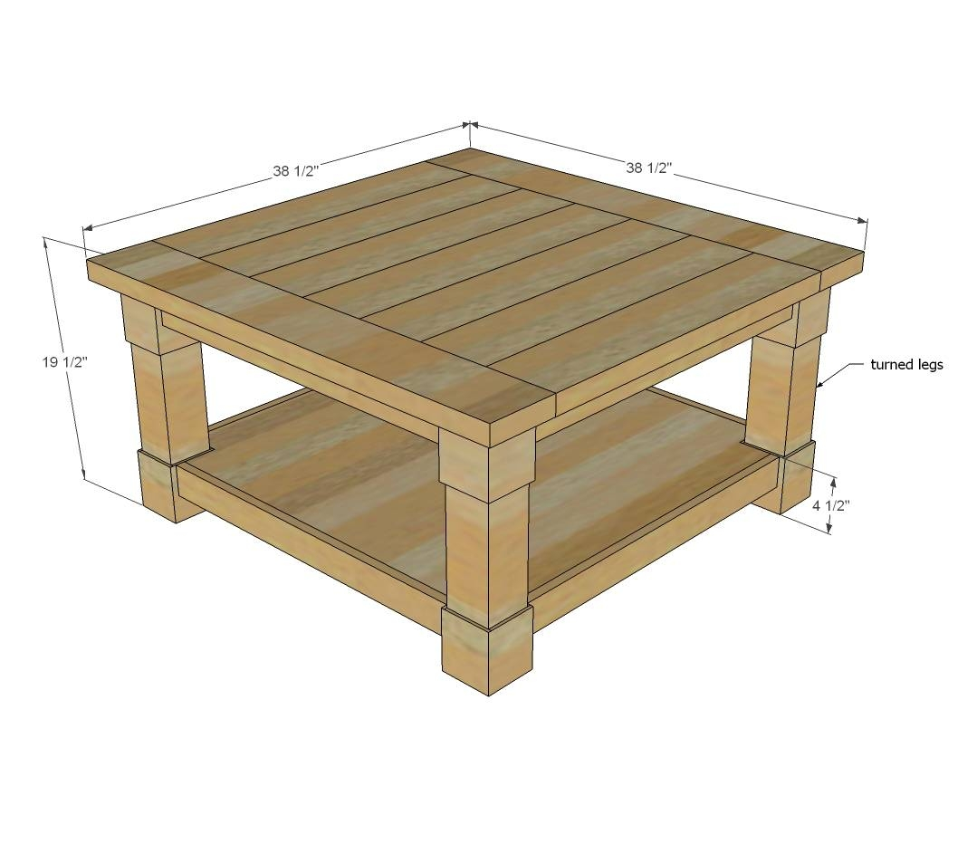 Ana White | Corona Coffee Table - Square - Diy Projects with regard to Square Pine Coffee Tables (Image 1 of 30)