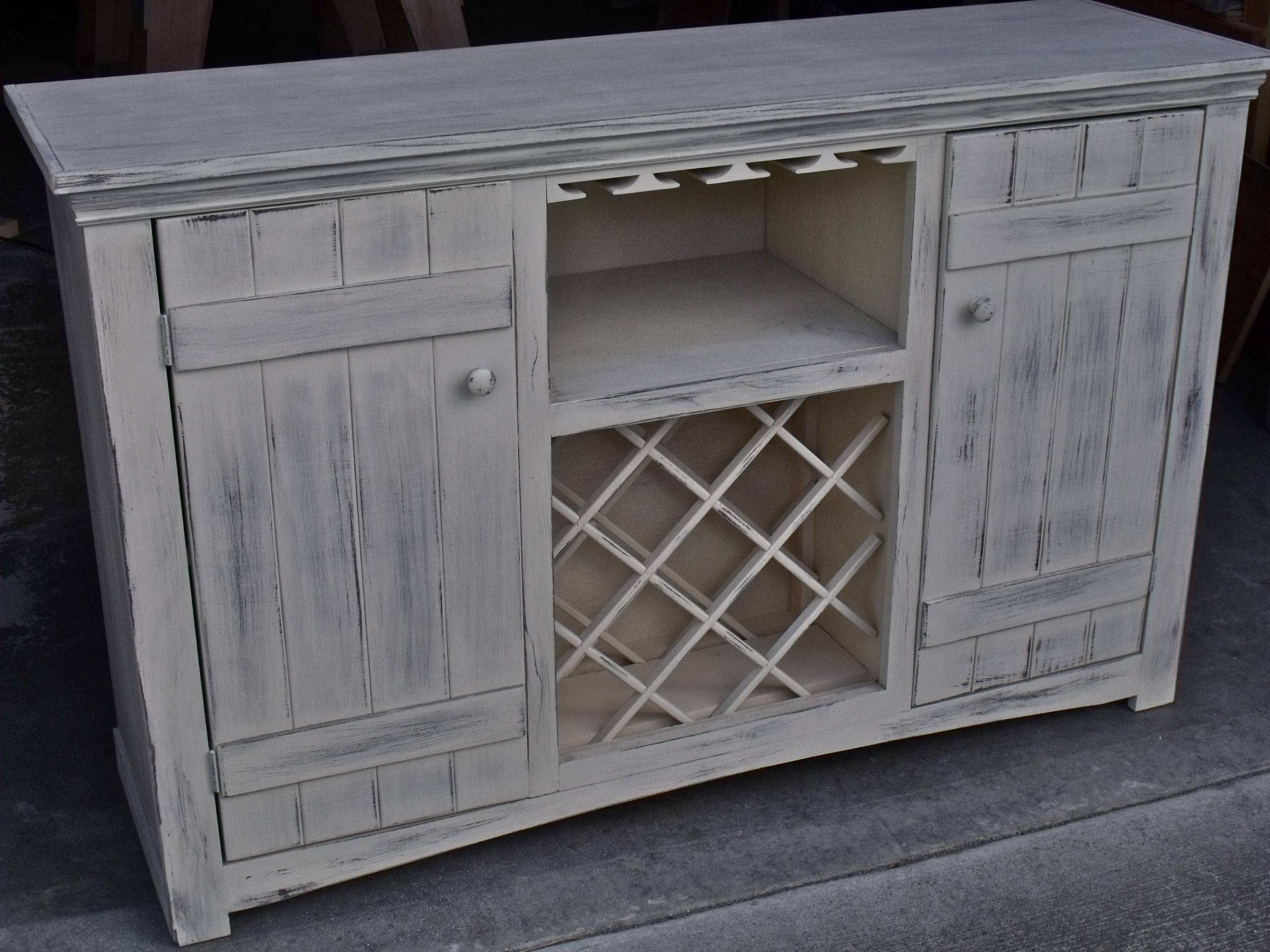 Ana White | Farmhouse Wine Buffet - Diy Projects throughout White Sideboards With Wine Rack (Image 4 of 30)