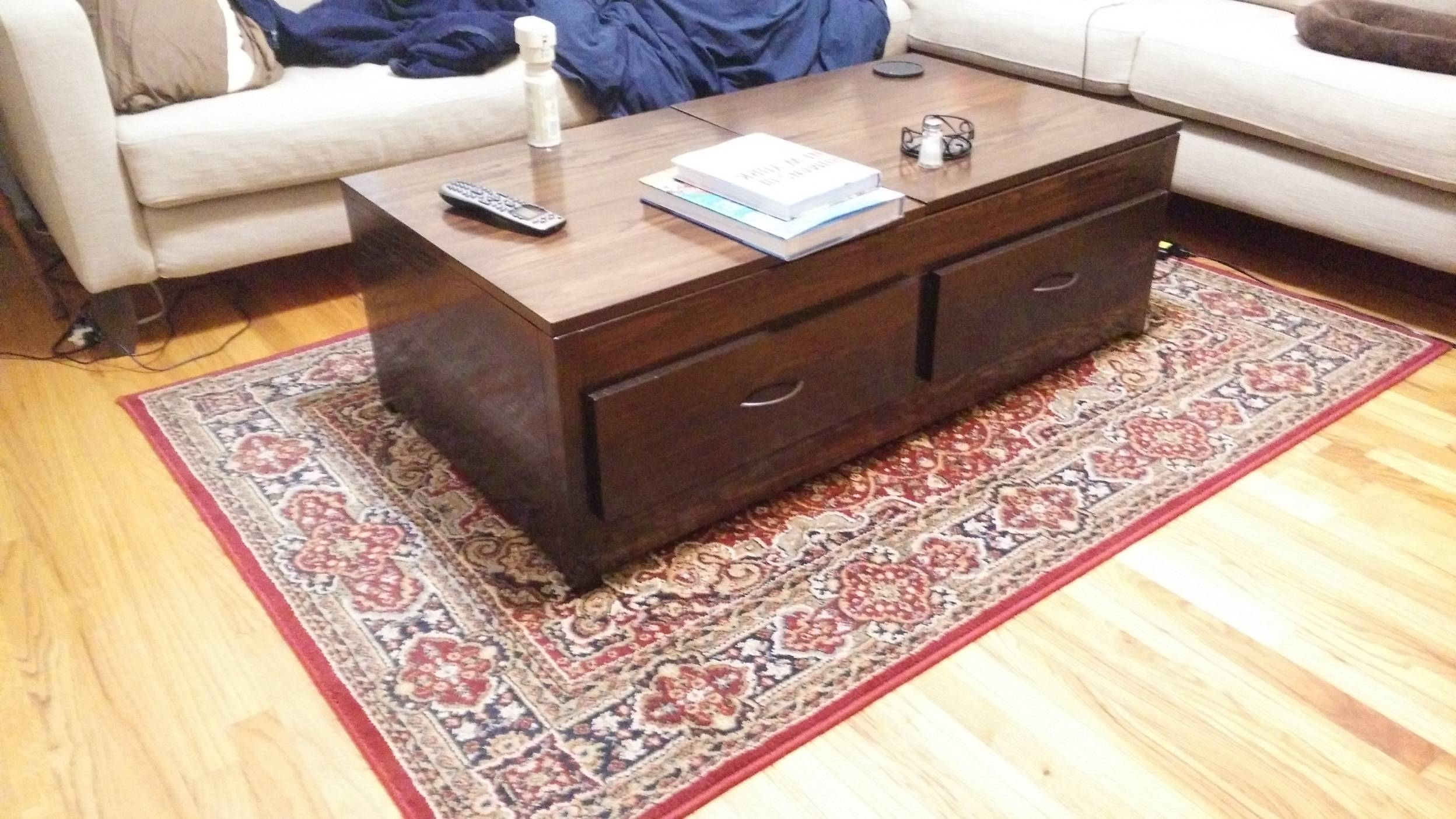 Ana White | Lift Top Coffee Table - Diy Projects intended for Hinged Top Coffee Tables (Image 3 of 30)