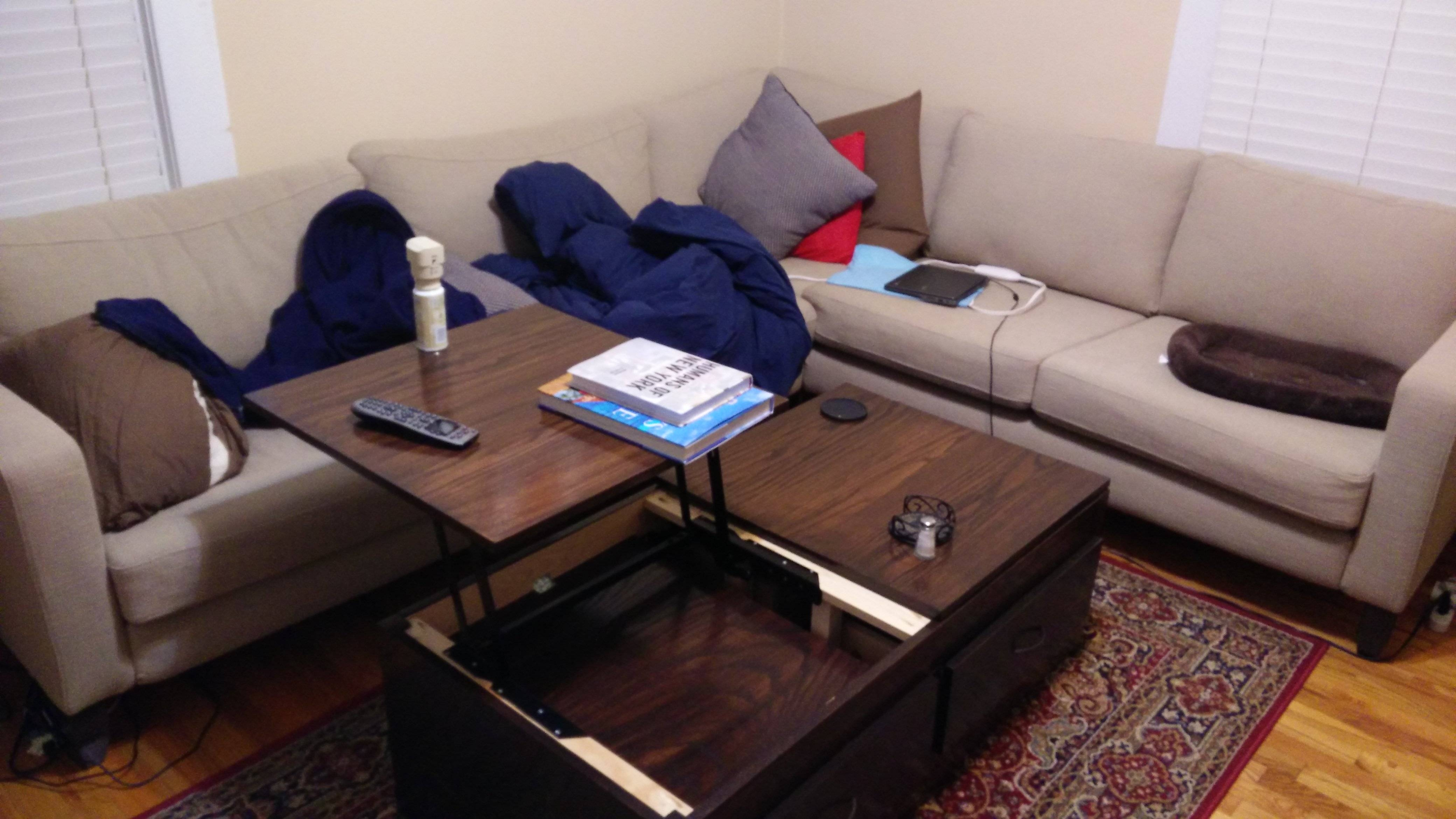 Ana White | Lift Top Coffee Table - Diy Projects with Rising Coffee Tables (Image 4 of 30)