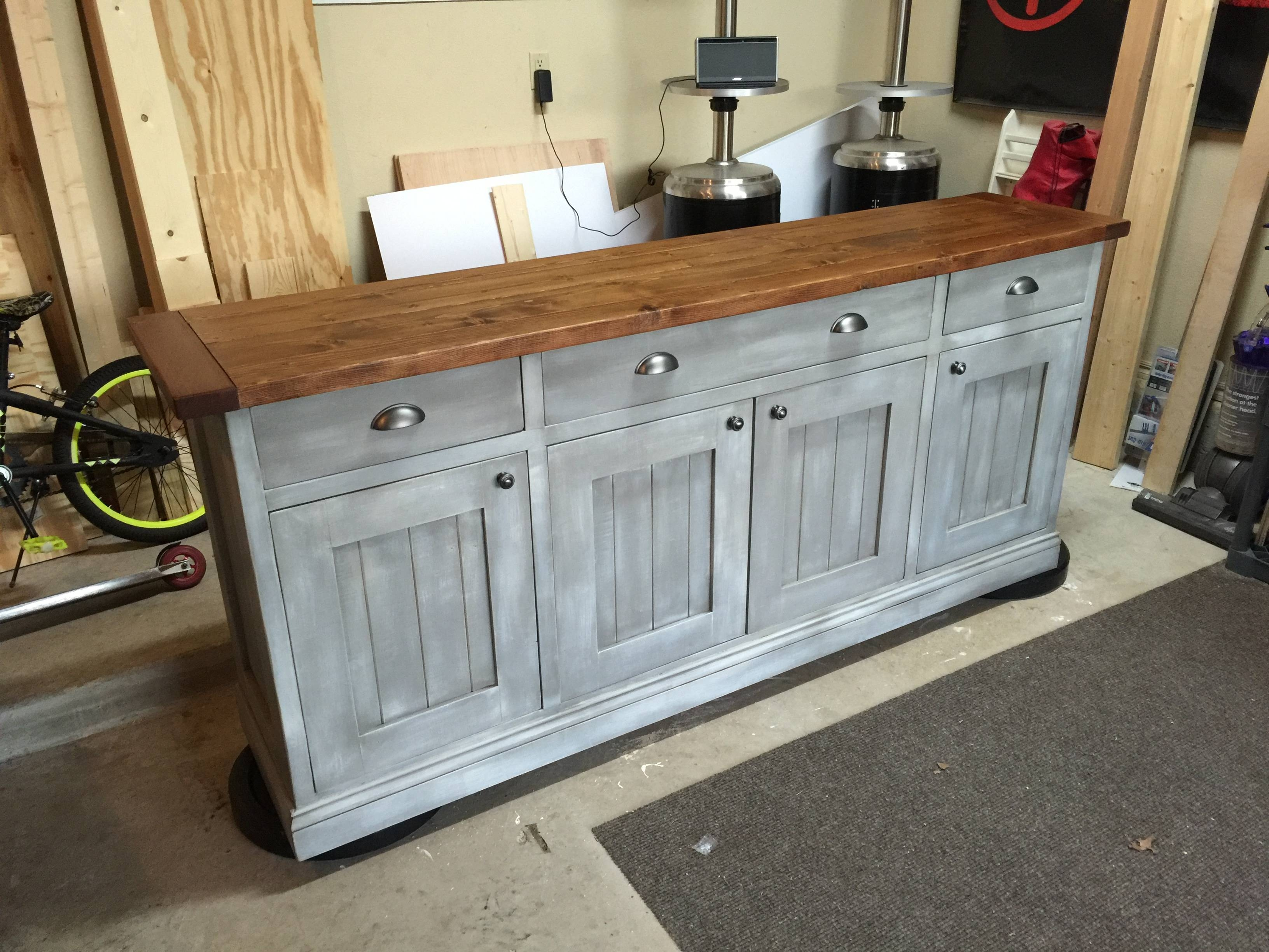 Ana White | Planked Wood Sideboard - Diy Projects pertaining to Distressed Wood Sideboards (Image 3 of 30)