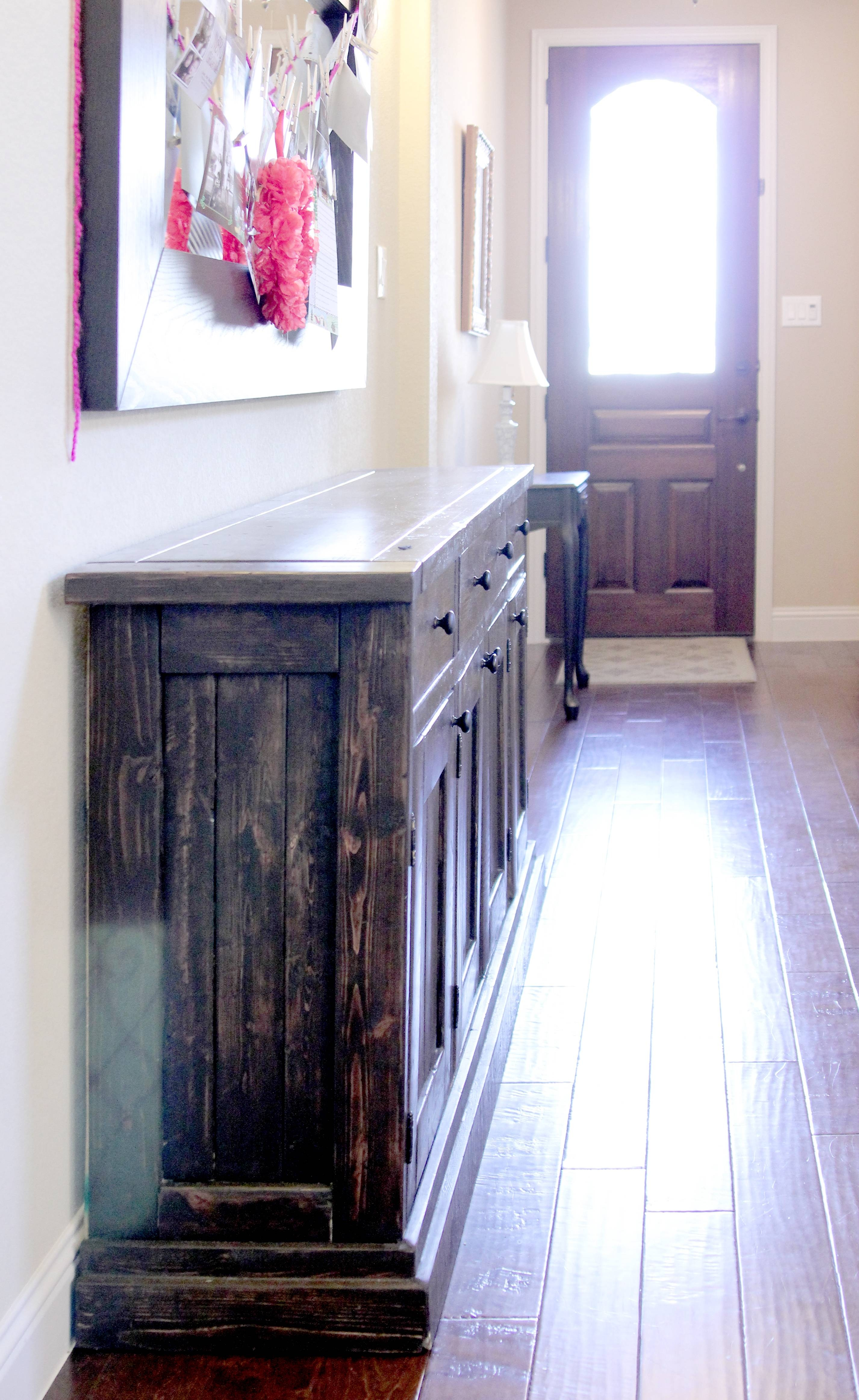 Ana White | Rustic Sideboard / Buffet Table - Diy Projects within Thin Sideboards (Image 1 of 30)