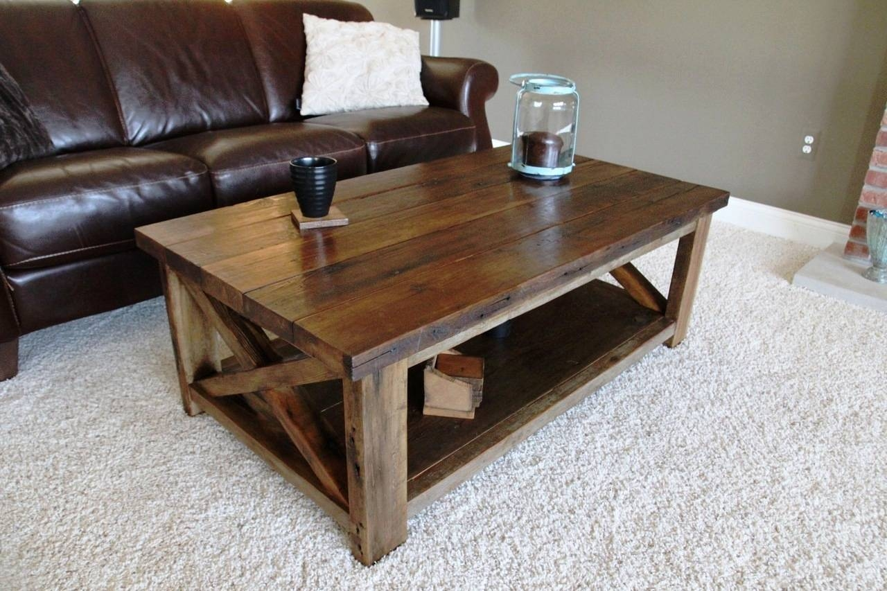 Ana White | Rustic X Coffee Table - Diy Projects for Rustic Wood Diy Coffee Tables (Image 3 of 30)