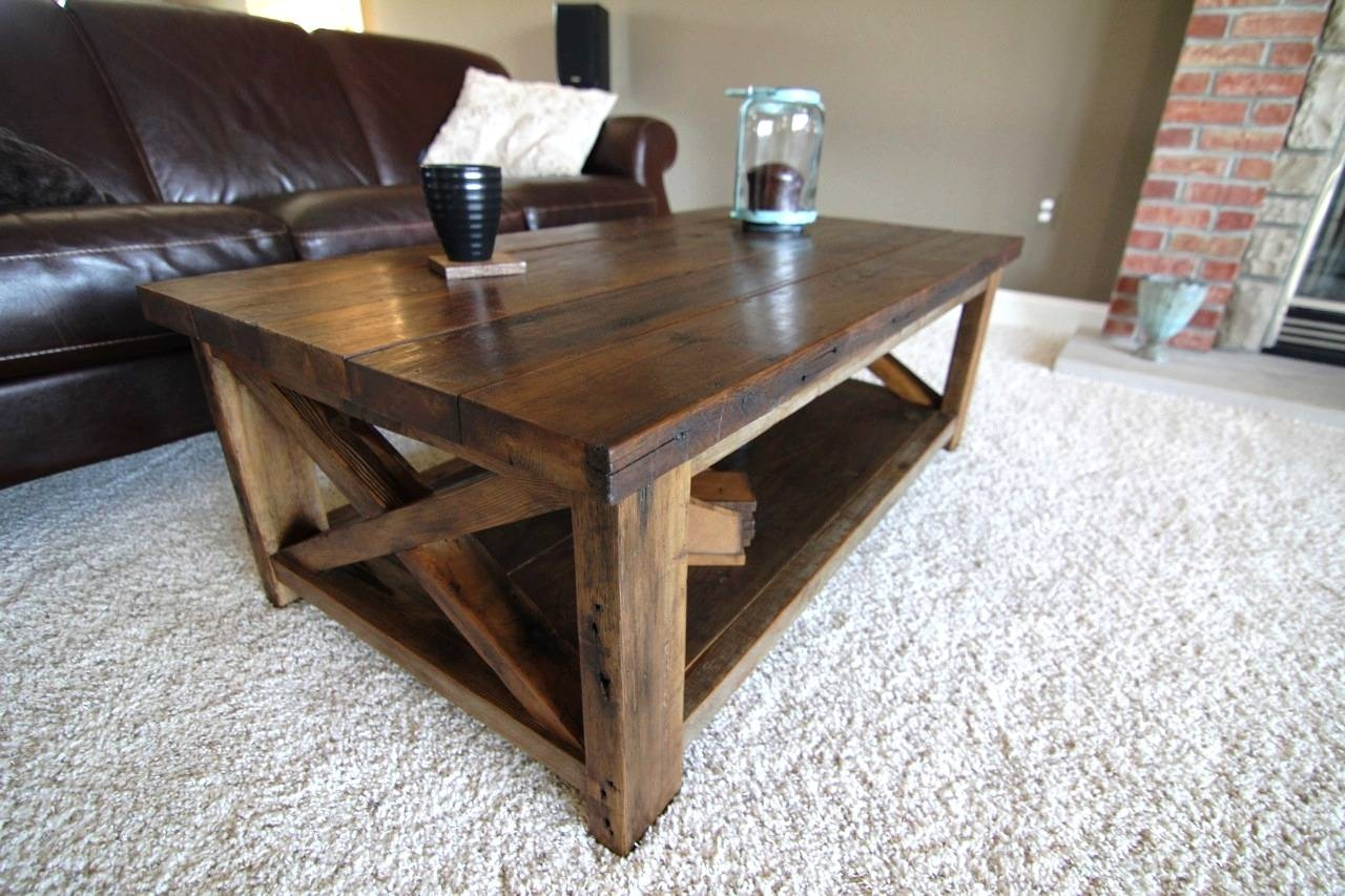 Ana White | Rustic X Coffee Table - Diy Projects inside Rustic Coffee Tables With Bottom Shelf (Image 5 of 30)