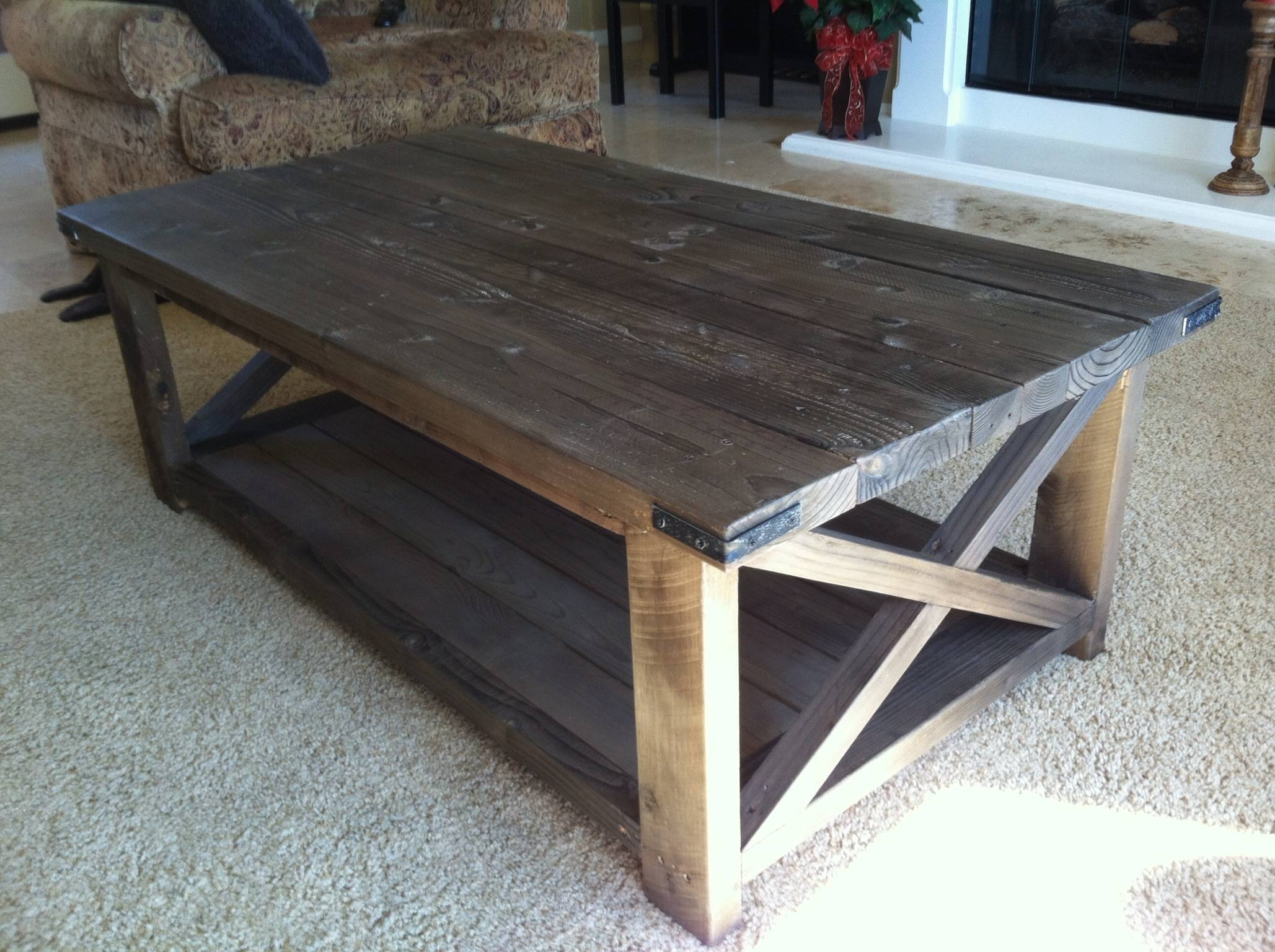 Ana White | Rustic X Coffee Table - Diy Projects with Rustic Coffee Tables With Bottom Shelf (Image 10 of 30)
