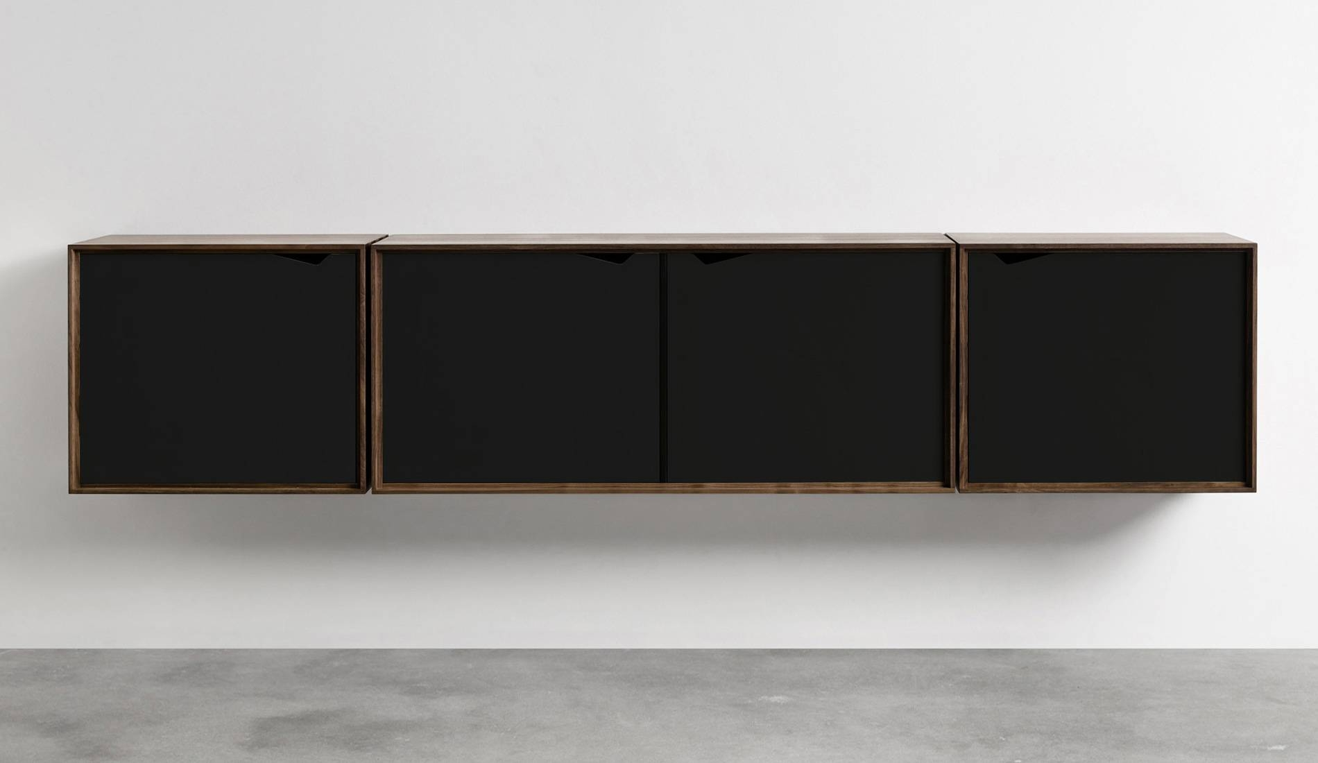 Andersen S2 Walnut / Black Sideboard | Dopo Domani regarding Walnut and Black Sideboards (Image 2 of 30)