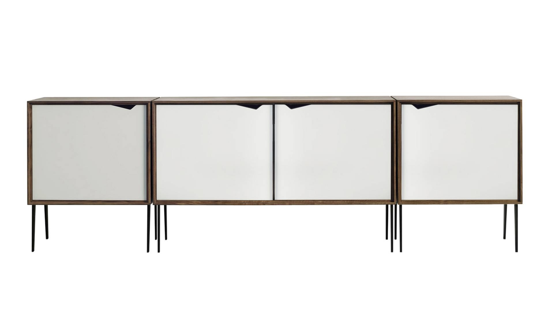 Andersen S2 Walnut / White Sideboard | Dopo Domani with Walnut and Black Sideboards (Image 3 of 30)
