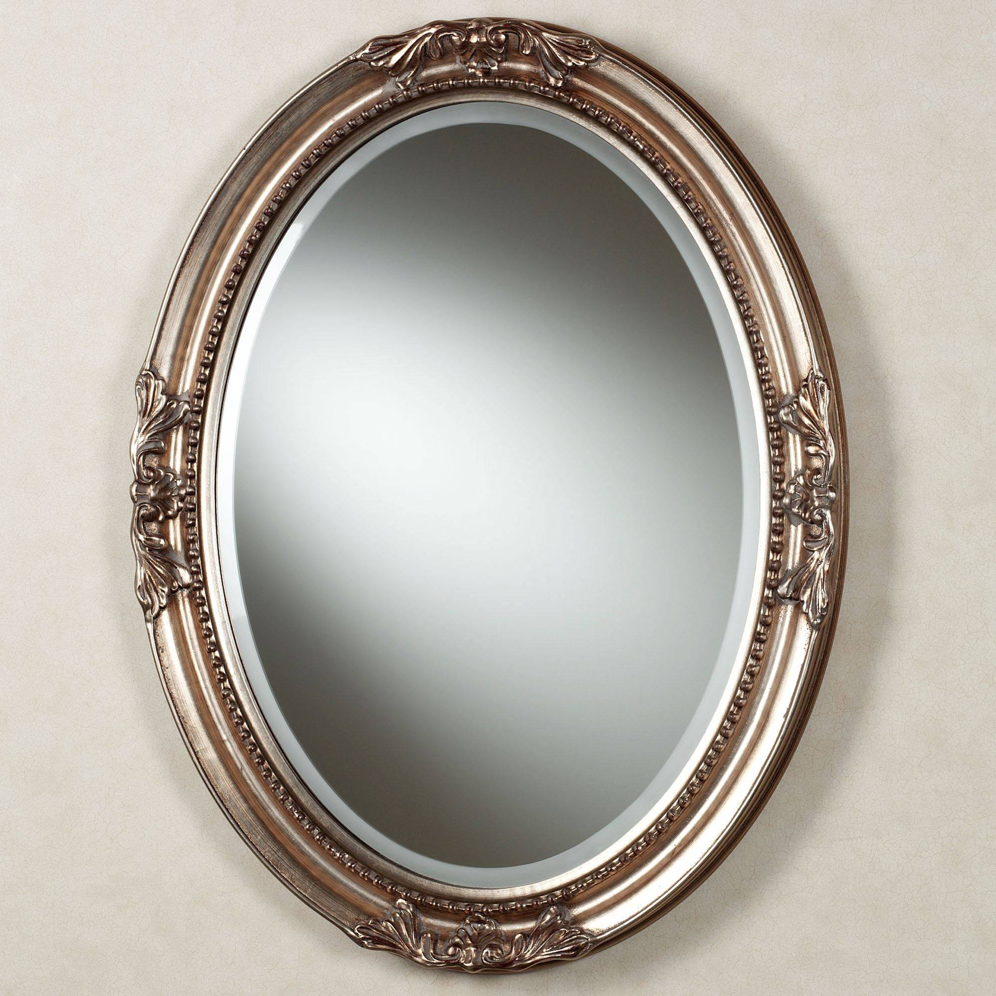 Andina Oval Wall Mirror throughout Silver Oval Wall Mirrors (Image 3 of 25)