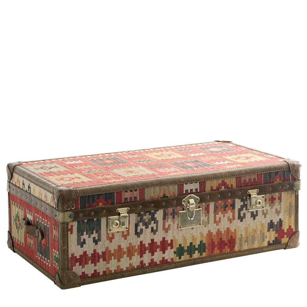 Andrew Martin Kilim Trunk Coffee Table | Houseology intended for Ethnic Coffee Tables (Image 5 of 30)