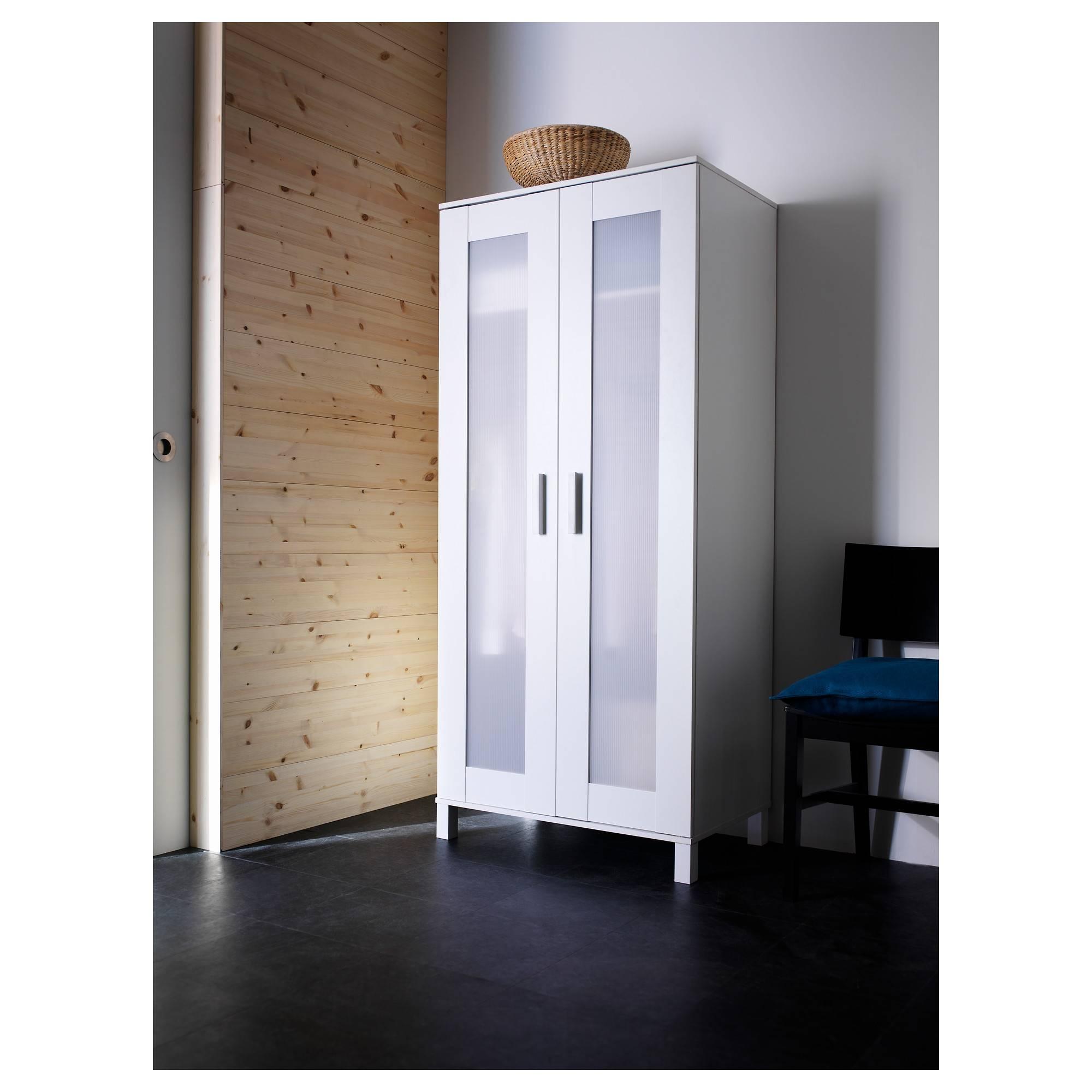 Aneboda Wardrobe White 81X180 Cm - Ikea regarding Single White Wardrobes With Mirror (Image 1 of 15)