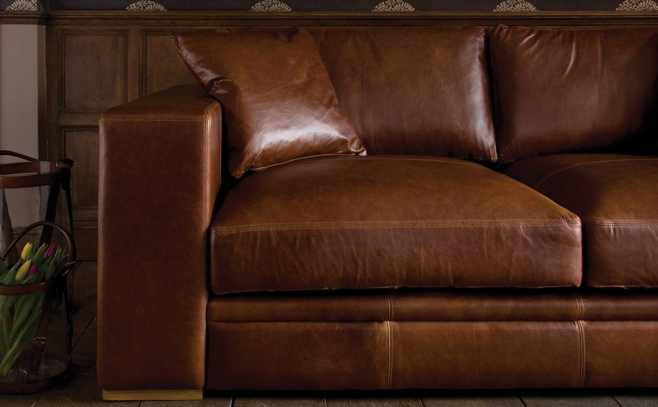 Aniline Leather Sofasindigo Furniture inside Aniline Leather Sofas (Image 8 of 30)