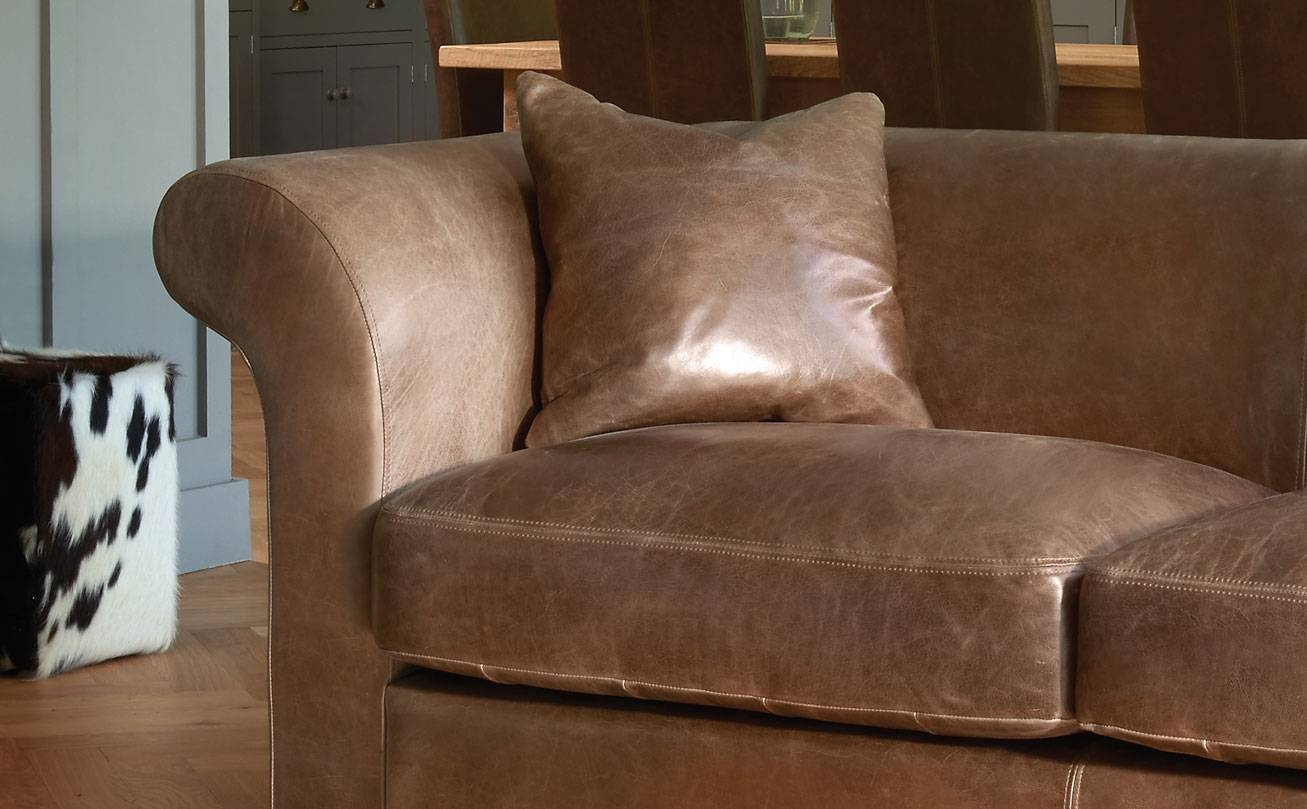 Aniline Leather Sofasindigo Furniture with Aniline Leather Sofas (Image 10 of 30)