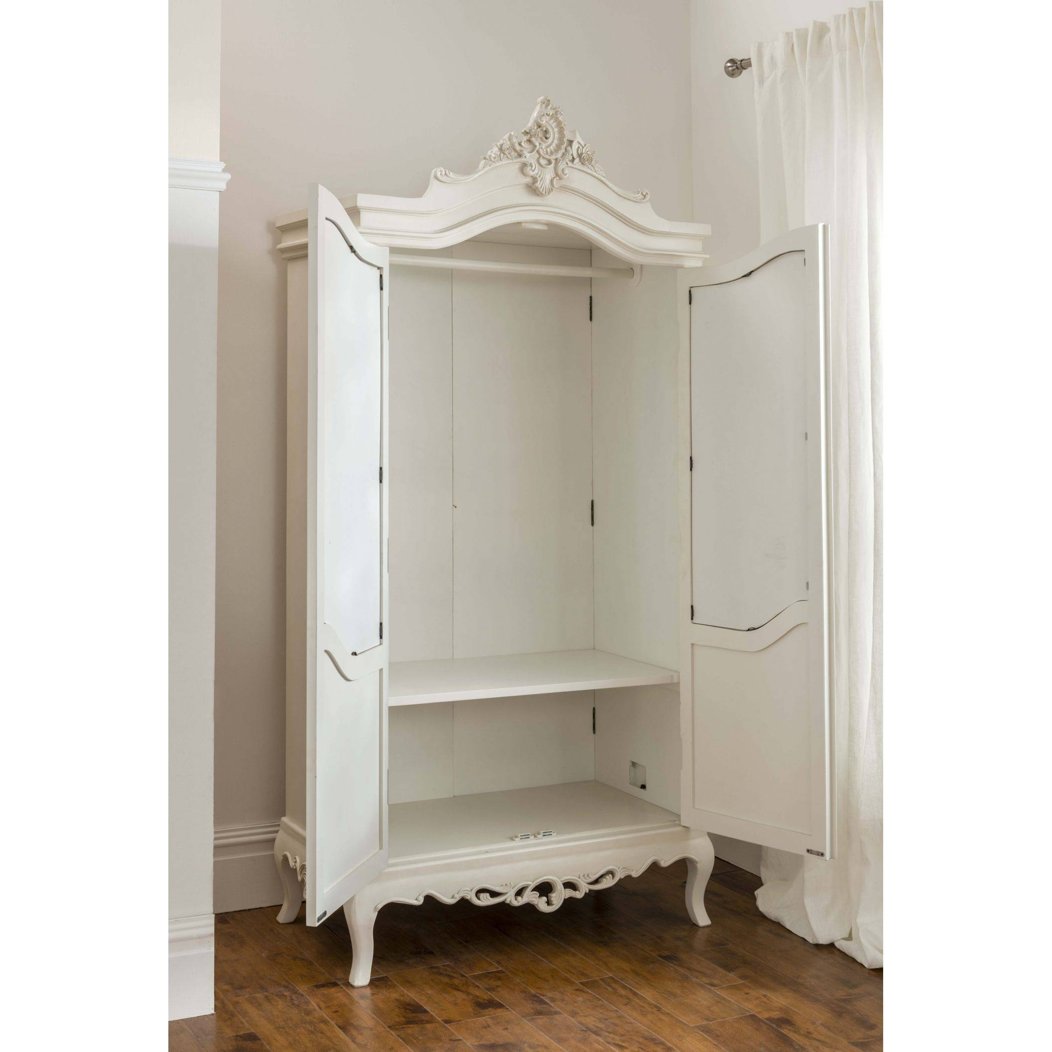 Annaelle Antique French Wardrobe in White French Style Wardrobes (Image 1 of 15)