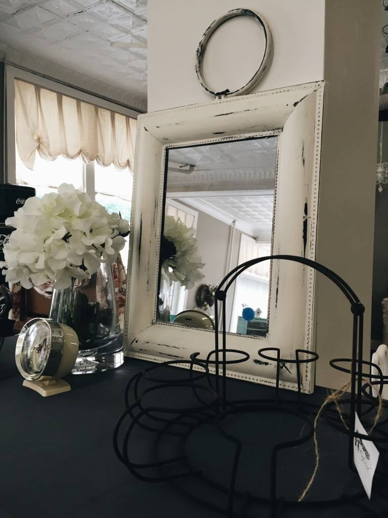 Annie Sloan Project: Metal Mirror Makeover | Repurposed And Refined within White Metal Mirrors (Image 1 of 25)