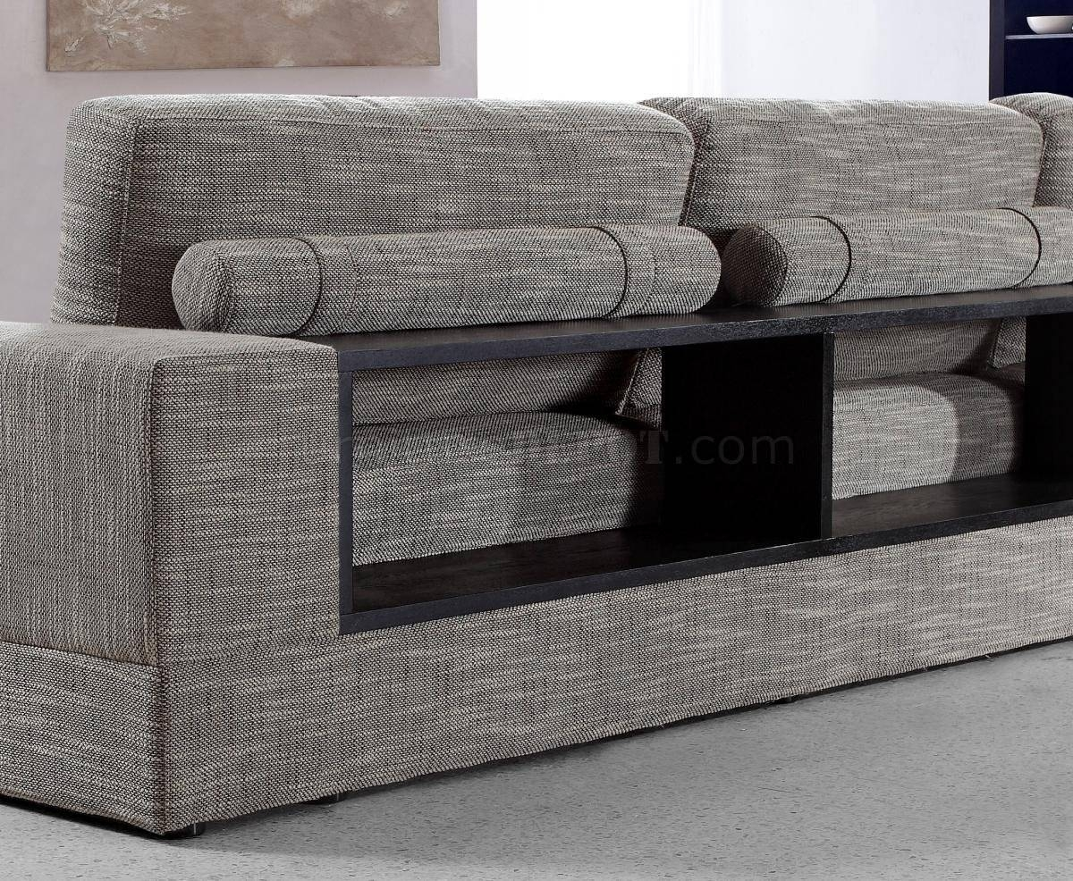Anthem Grey Fabric Sectional Sofa & Chair regarding Cloth Sectional Sofas (Image 2 of 30)