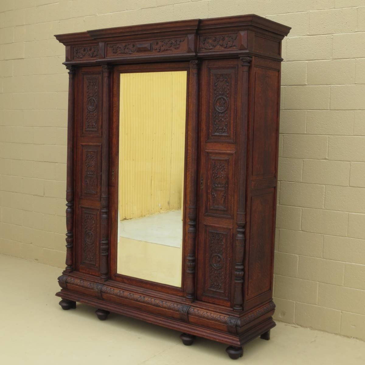 Antique Armoires And Antique Wardrobes inside French Antique Wardrobes (Image 4 of 15)