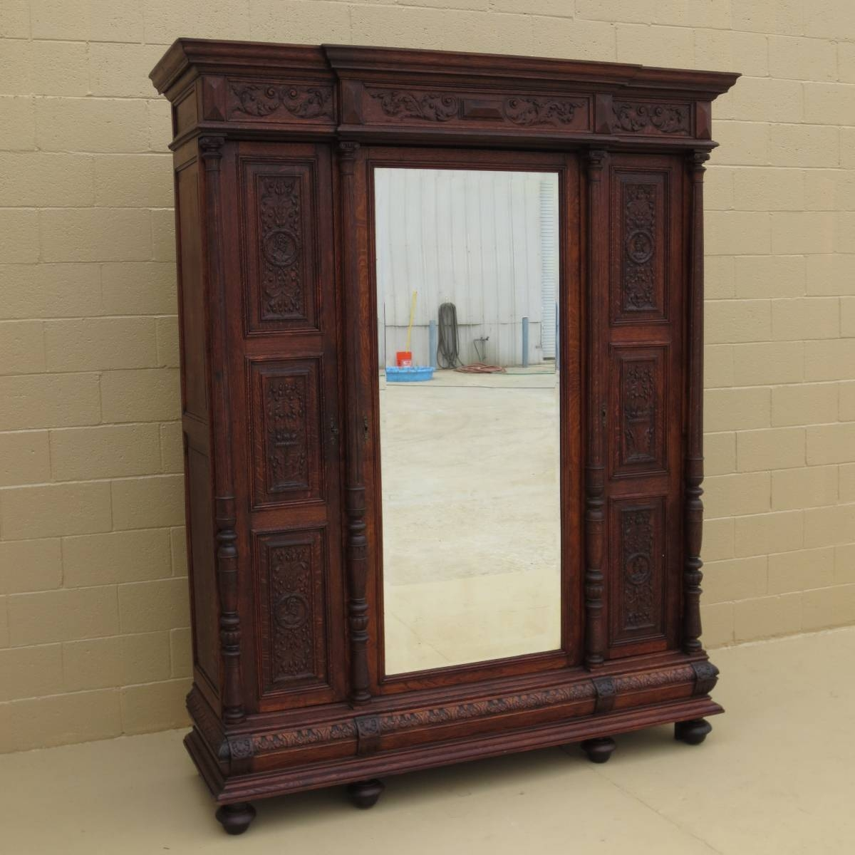 Antique Armoires, Antique Wardrobes, And Antique Furniture From pertaining to Large Antique Wardrobes (Image 3 of 15)
